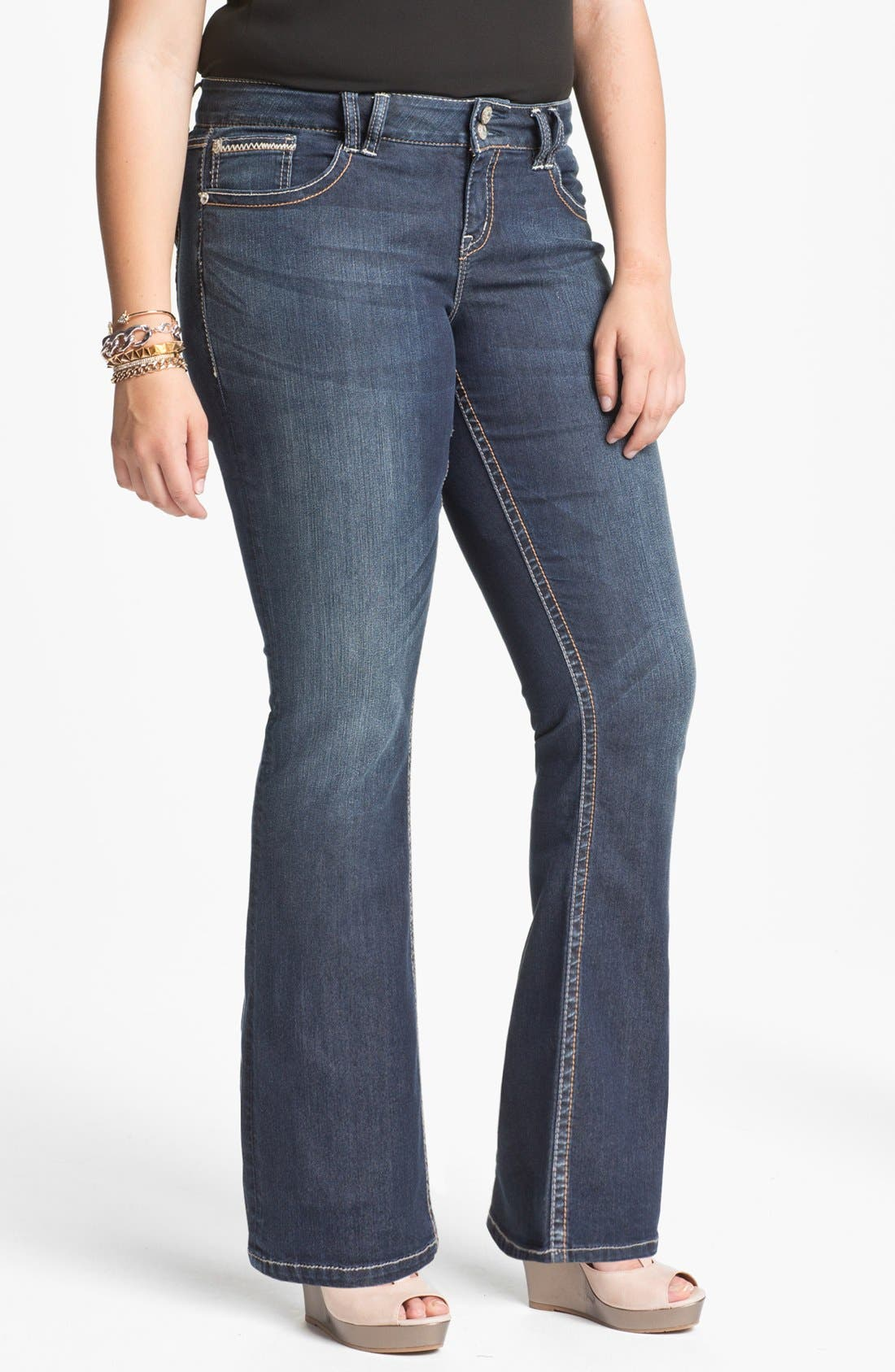 Alternate Image 1 Selected - Silver Jeans Co. 'Dawson' Bootcut Jeans (Juniors Plus)