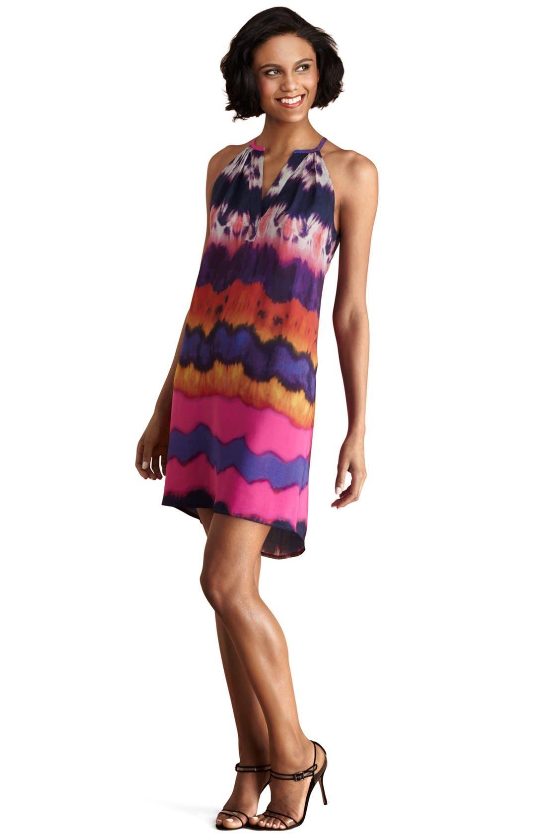 Alternate Image 1 Selected - Donna Morgan Print Cutaway Shift Dress
