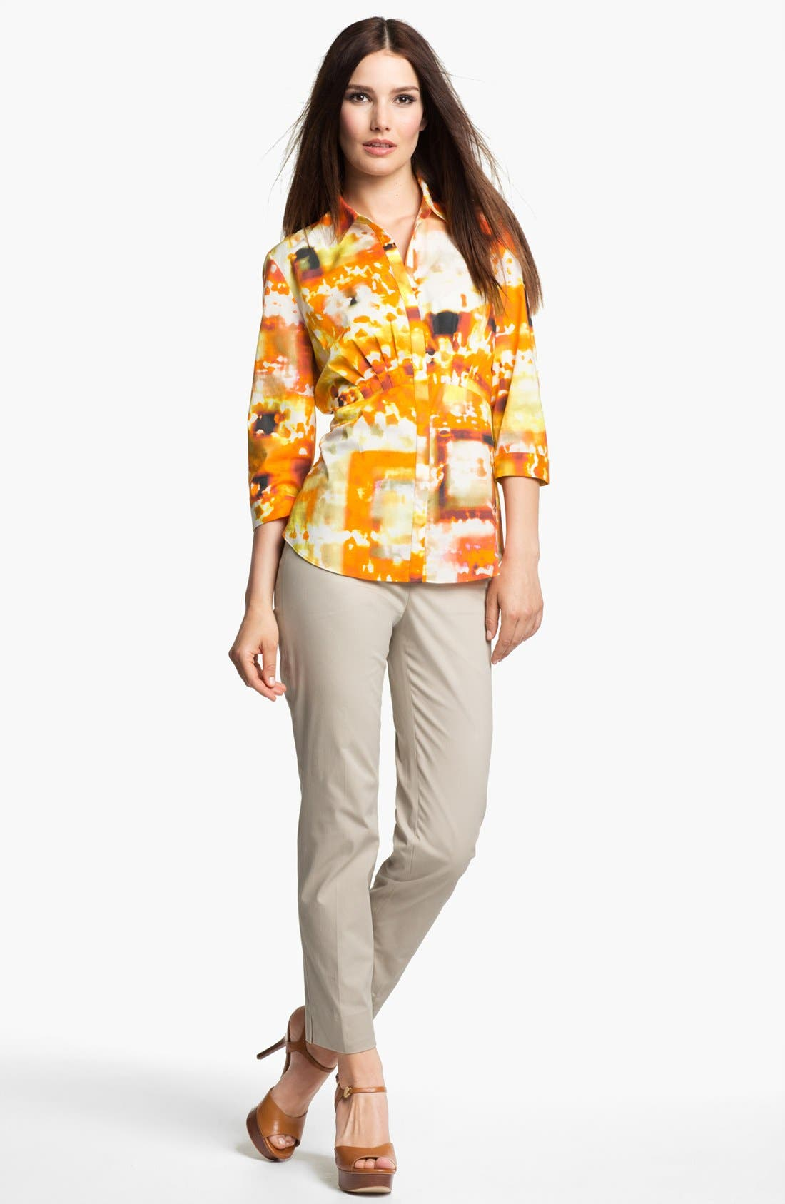 Alternate Image 4  - Lafayette 148 New York 'Sabrina - Expedition Stretch' Blouse