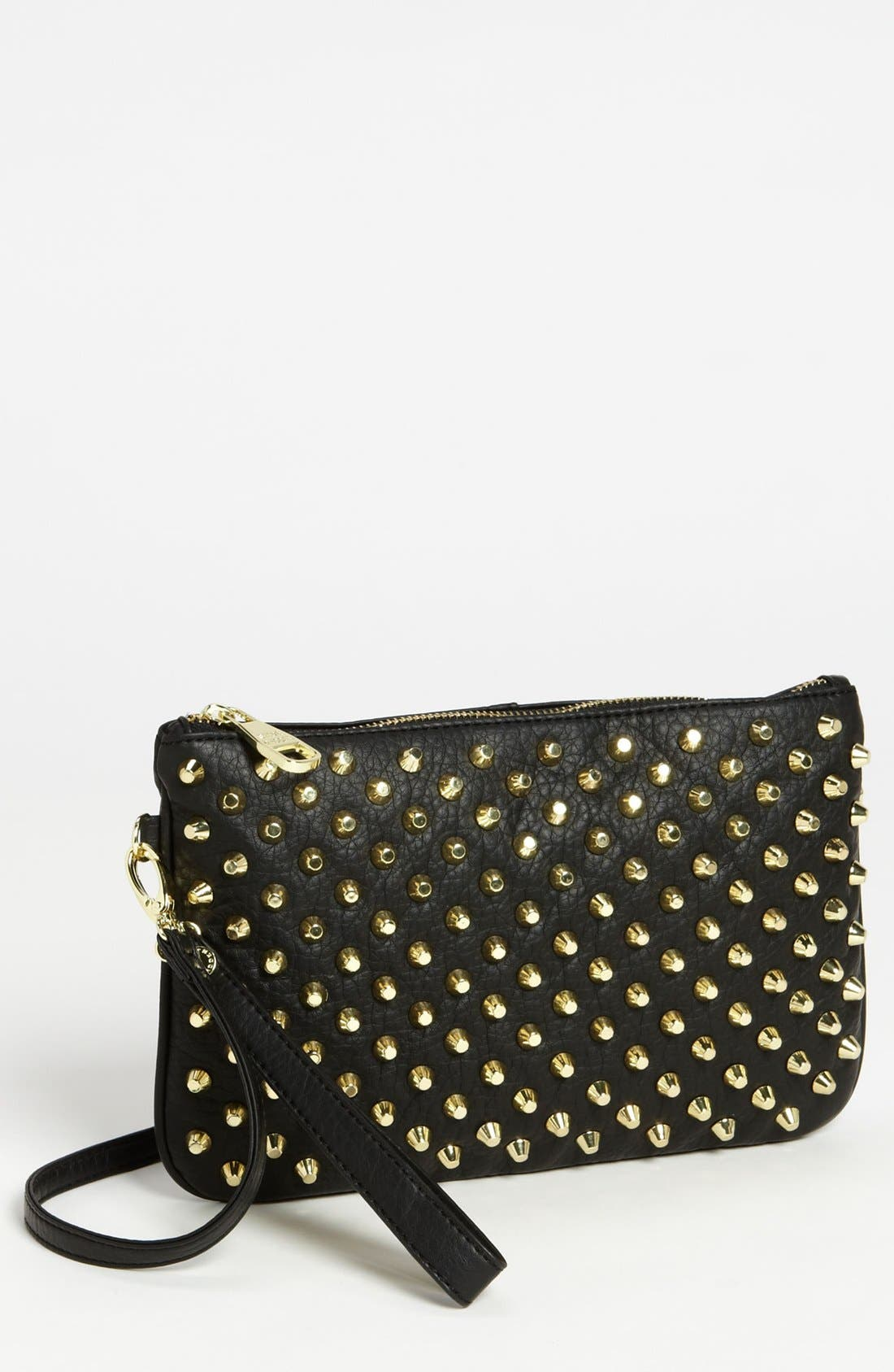 Alternate Image 1 Selected - Steve Madden Studded Faux Leather Clutch