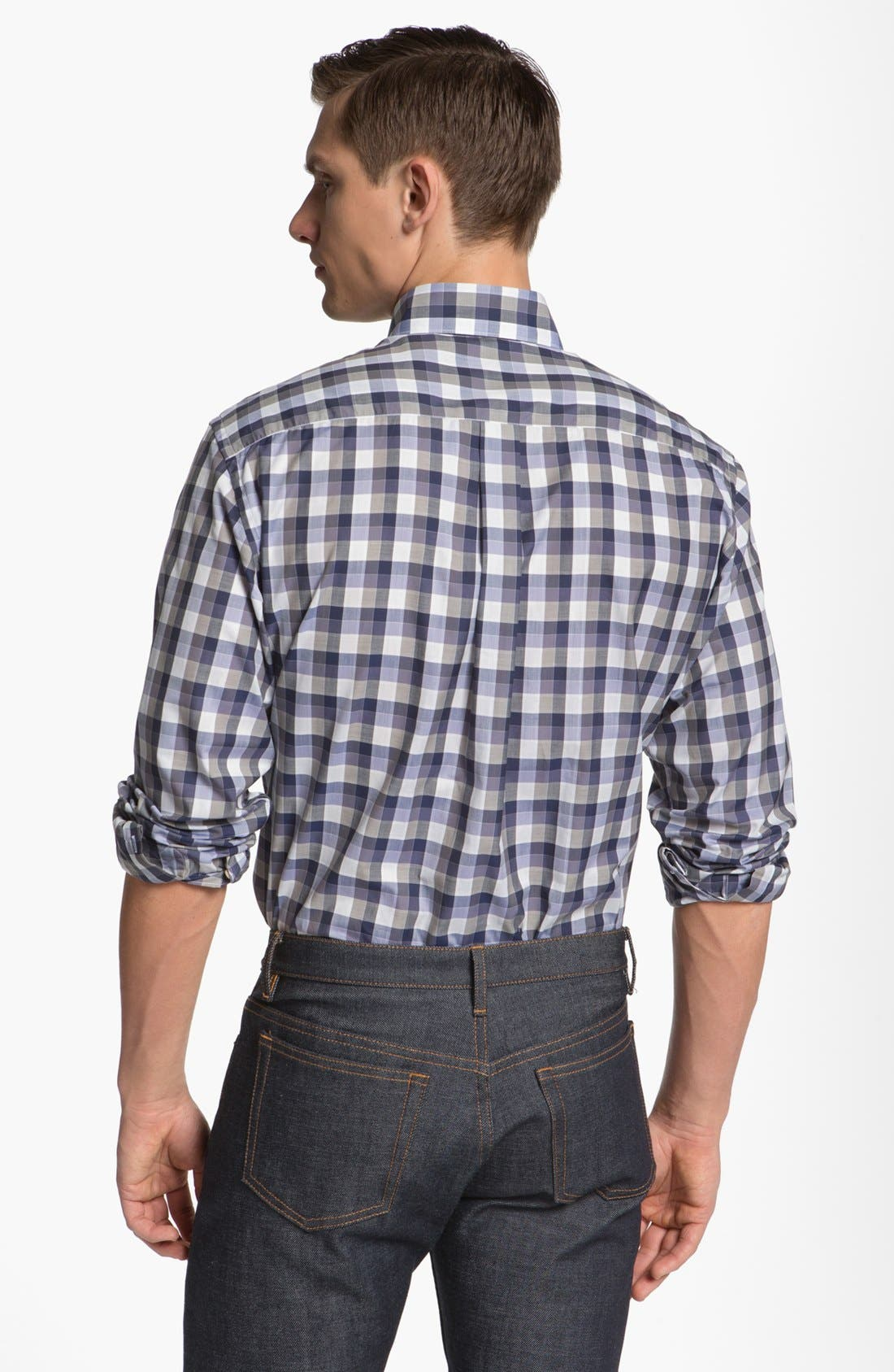 Alternate Image 2  - Canali Check Sport Shirt