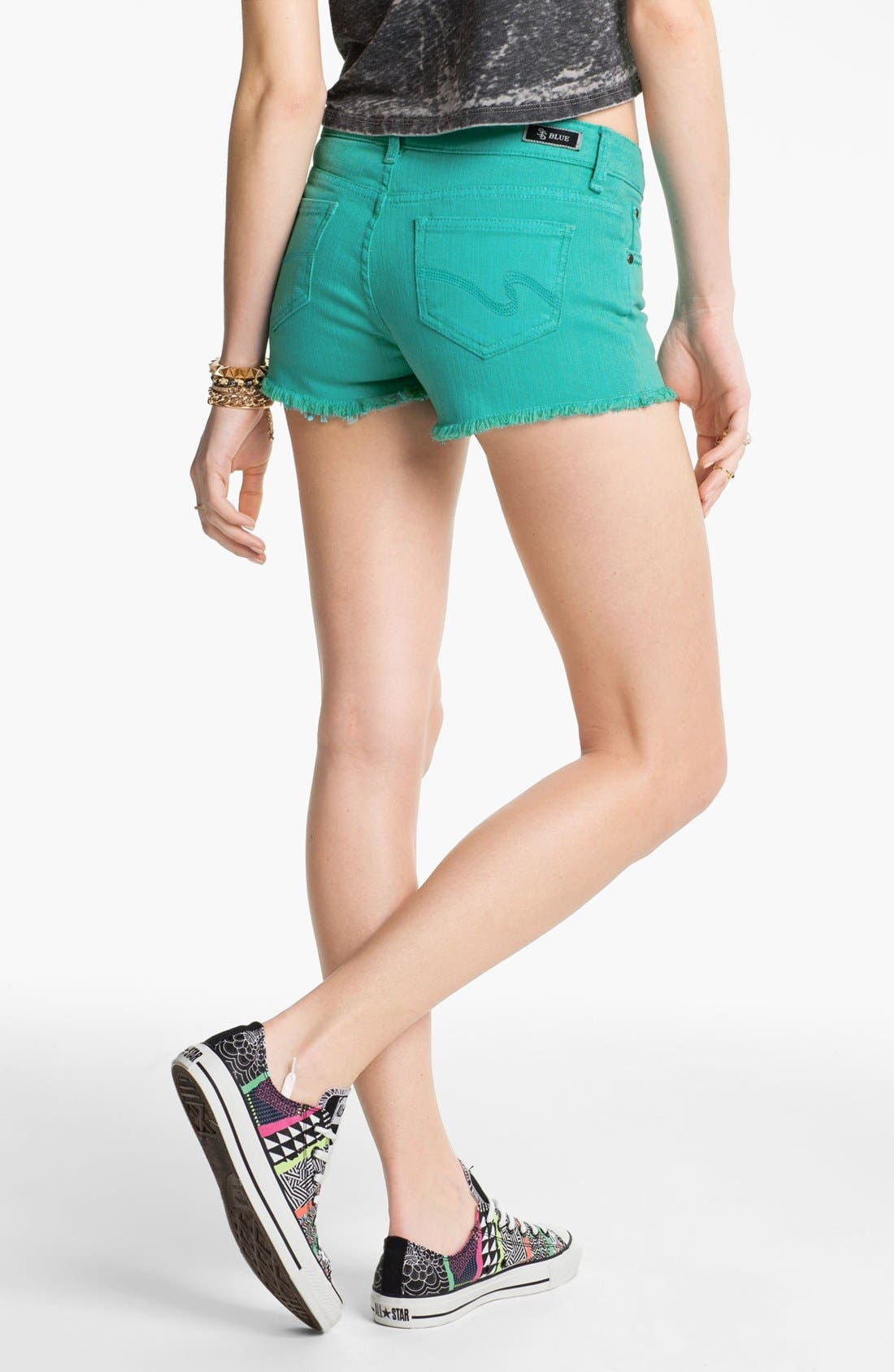 Alternate Image 2  - STS Blue High Waist Cutoff Denim Shorts (Juniors)