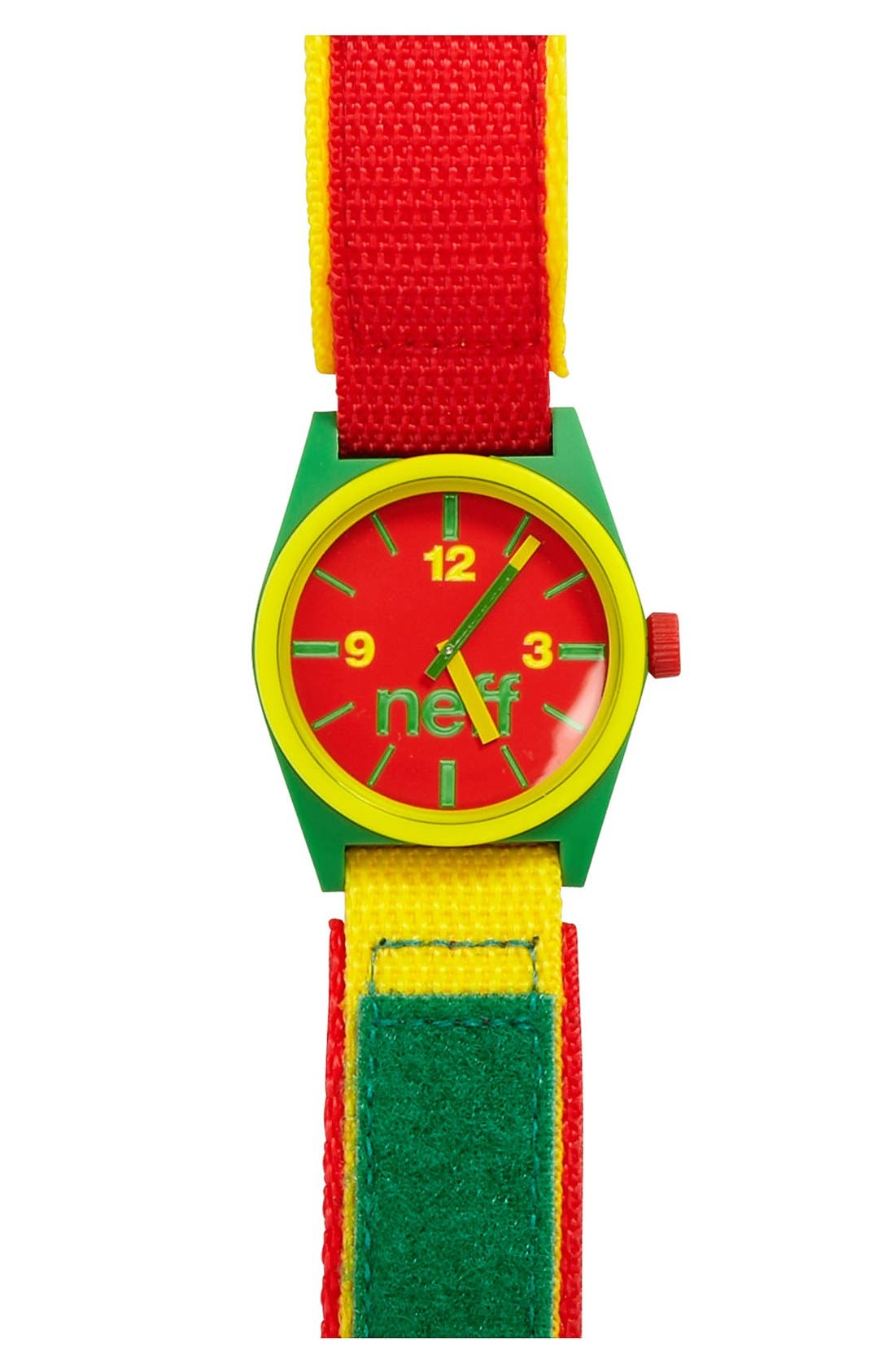 Main Image - Neff 'Daily' Velcro® Strap Watch, 38mm x 40mm
