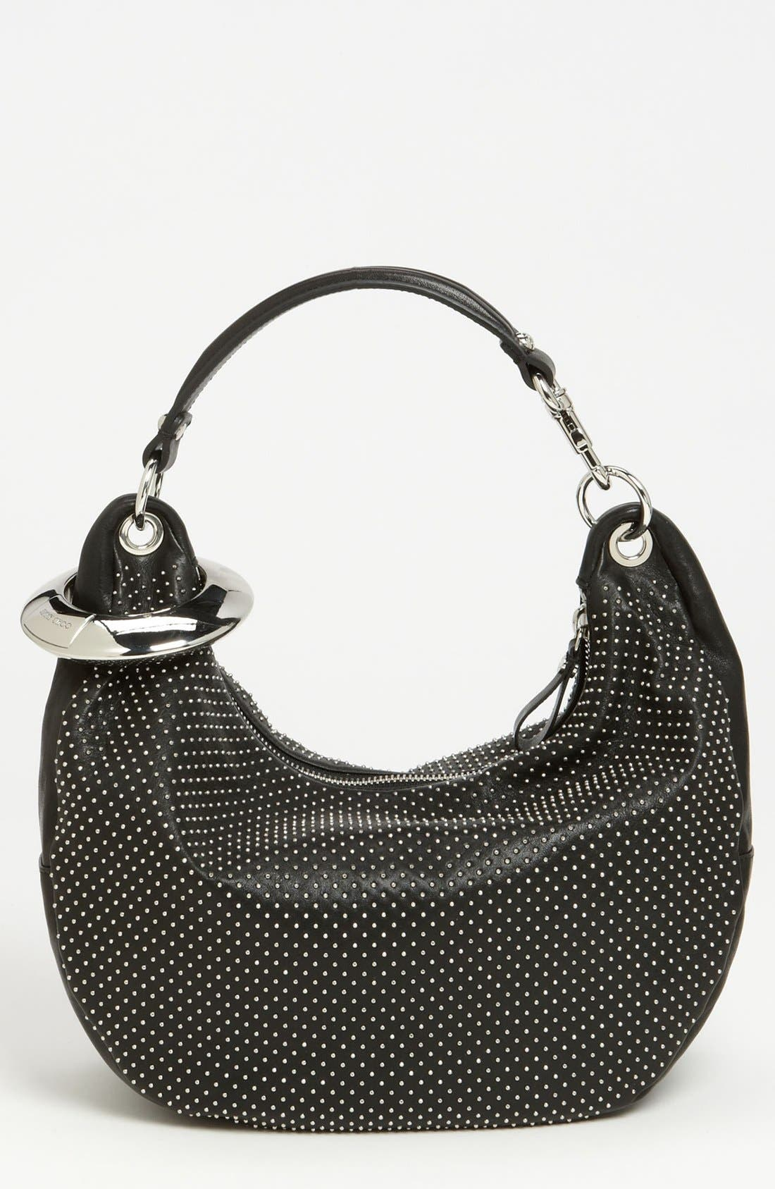 Main Image - Jimmy Choo 'Solar - Small' Studded Leather Hobo