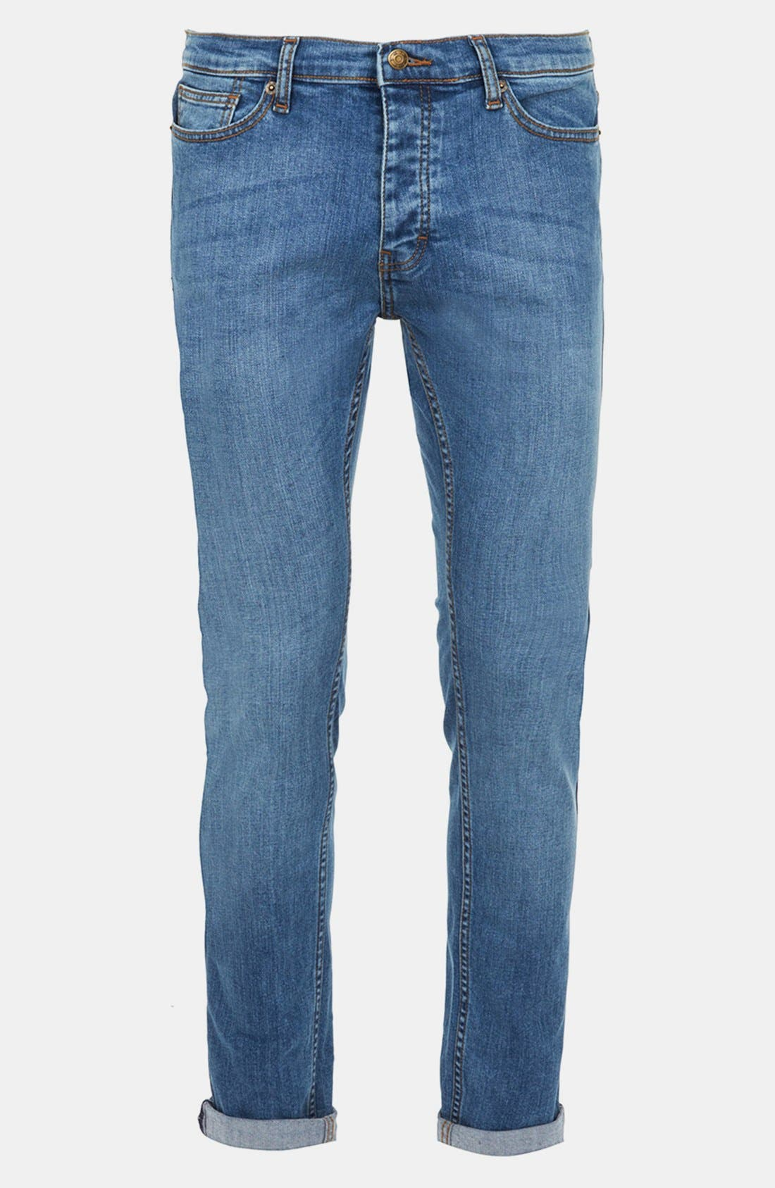 Alternate Image 1 Selected - Topman Skinny Fit Stretch Jeans