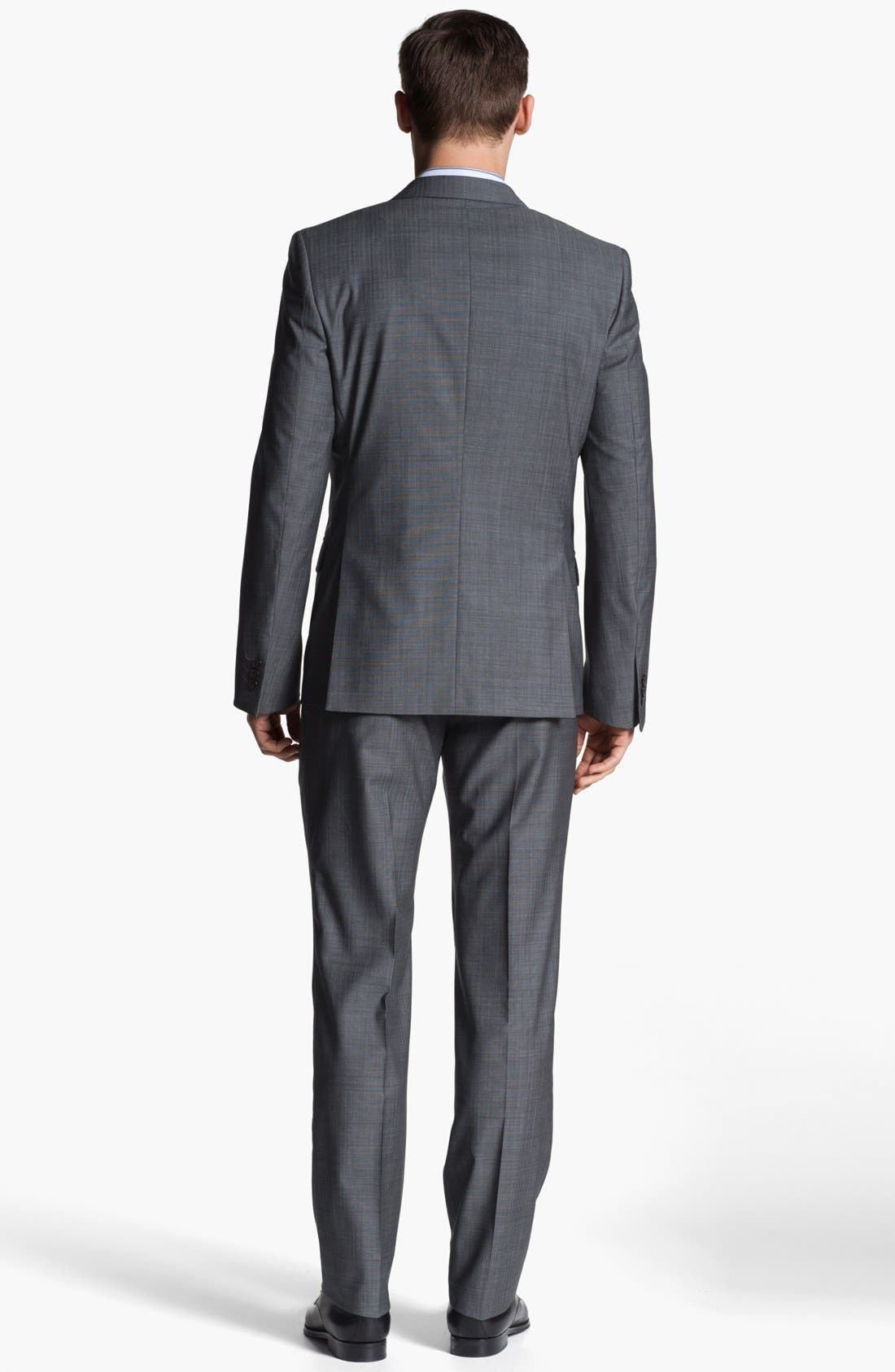 Alternate Image 3  - Versace Trim Fit Wool Blend Suit