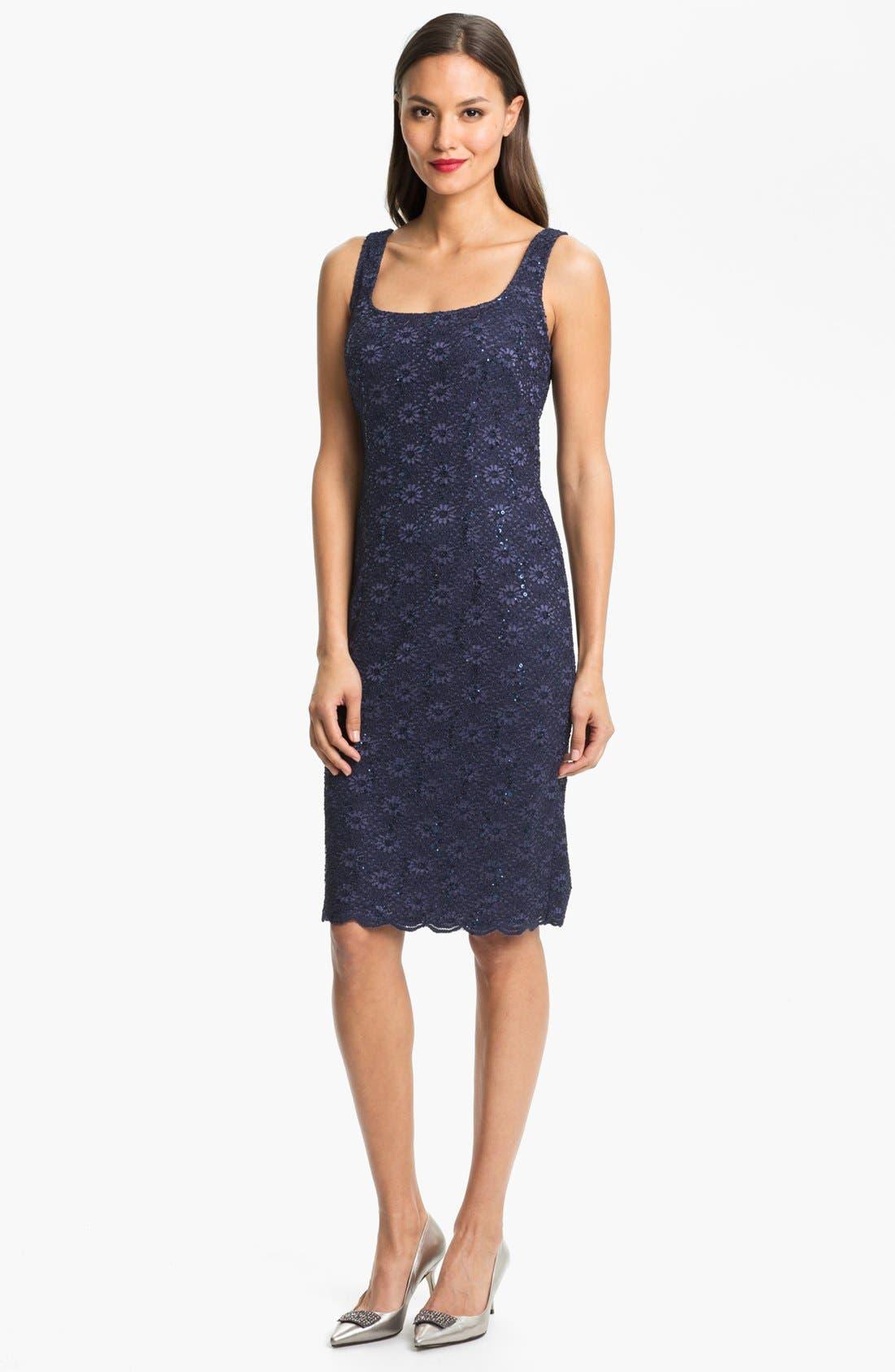 Alternate Image 2  - Alex Evenings Embellished Lace Dress & Jacket (Petite)