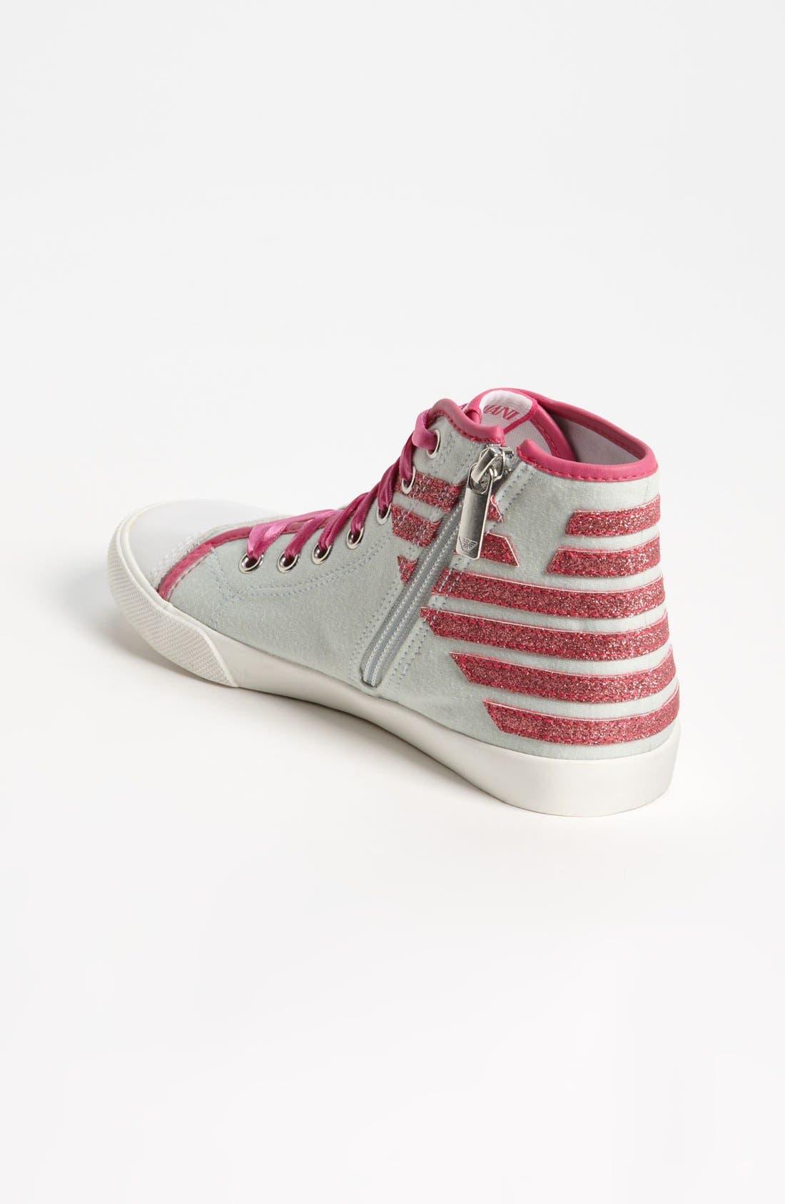 Alternate Image 2  - Armani Junior High Top Sneaker (Toddler, Little Kid & Big Kid)