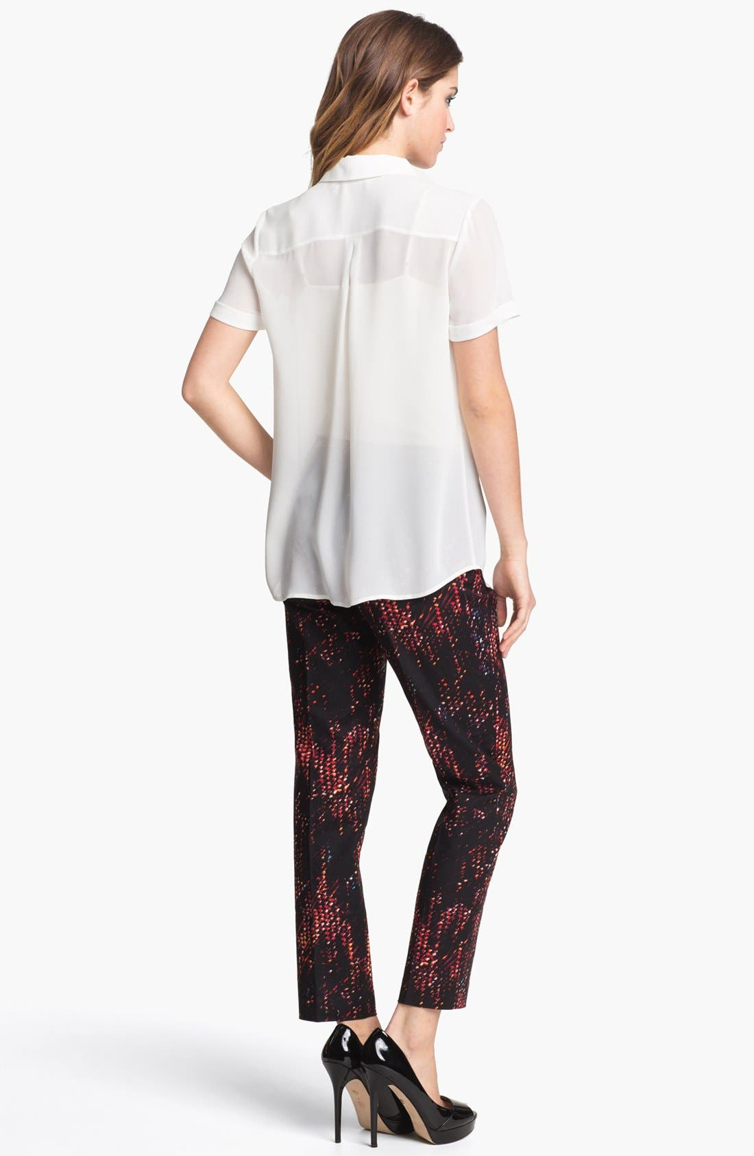 Alternate Image 5  - Halogen® Short Sleeve Collared Shirt