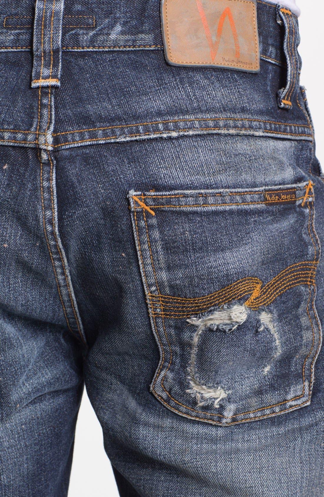 Alternate Image 4  - Nudie 'Alf' Slim Straight Leg Jeans (Organic Larry Replica)