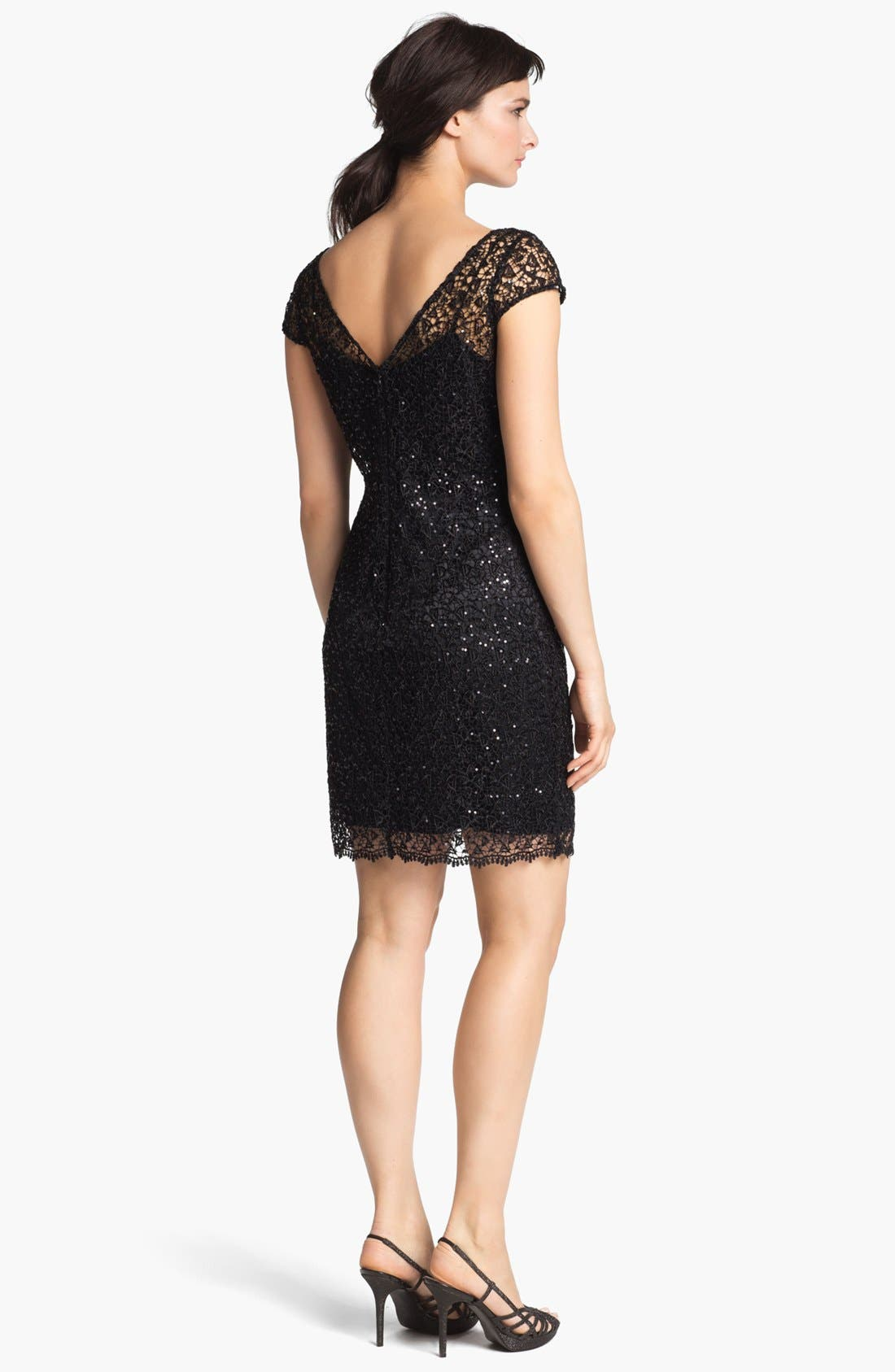 Alternate Image 2  - Kay Unger Sequin & Crochet Slipdress