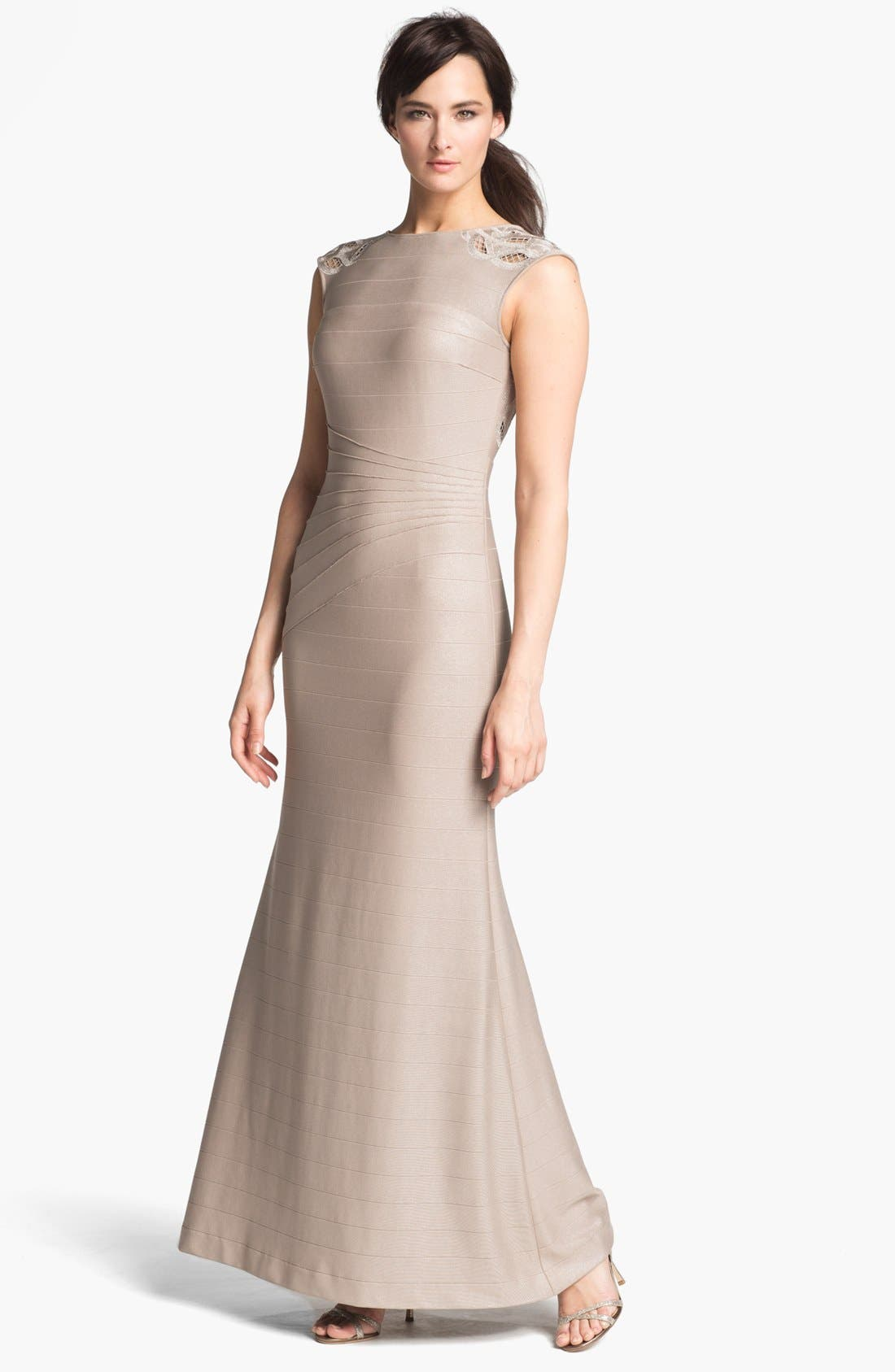 Main Image - Kay Unger Banded Trumpet Gown