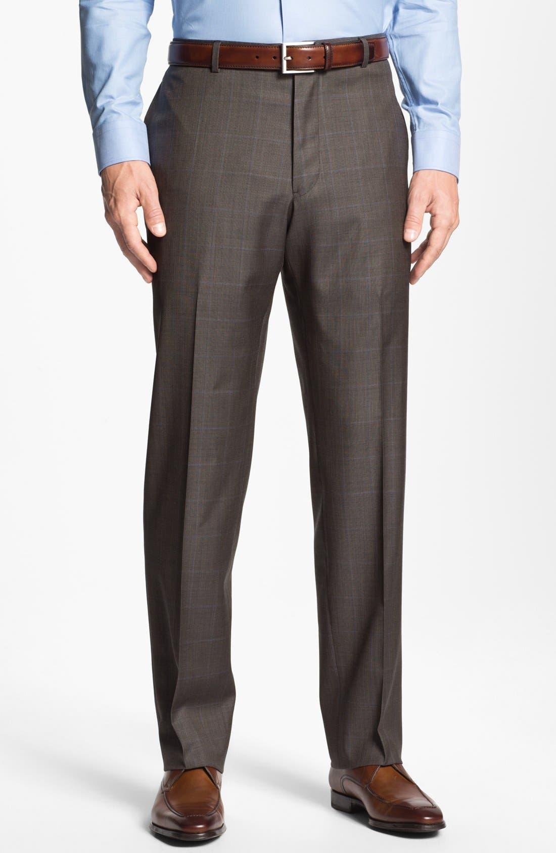 Alternate Image 5  - Joseph Abboud 'Profile Hybrid' Windowpane Trim Fit Wool Suit
