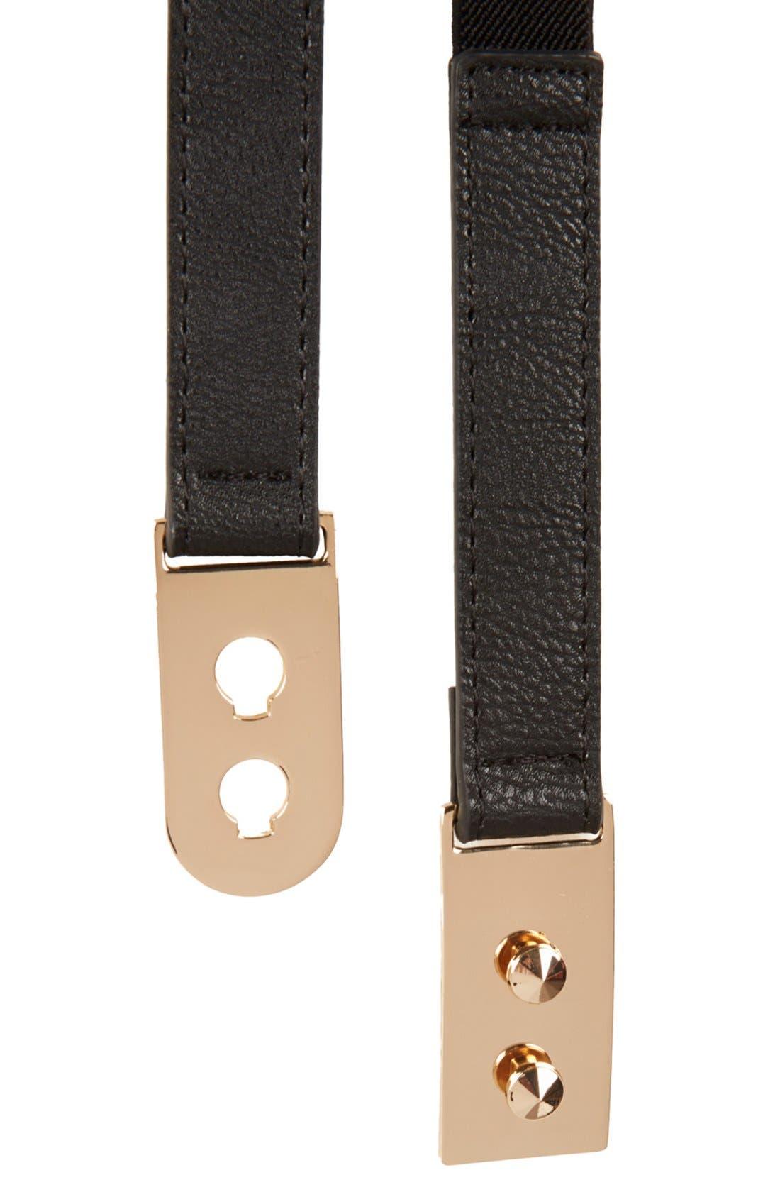 Alternate Image 3  - Topshop Stud Lock Stretch Belt