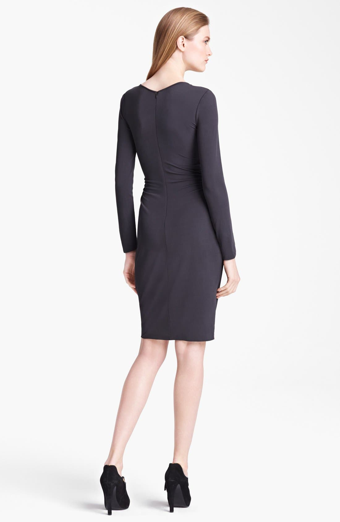 Alternate Image 2  - Armani Collezioni Drape Front Jersey Dress