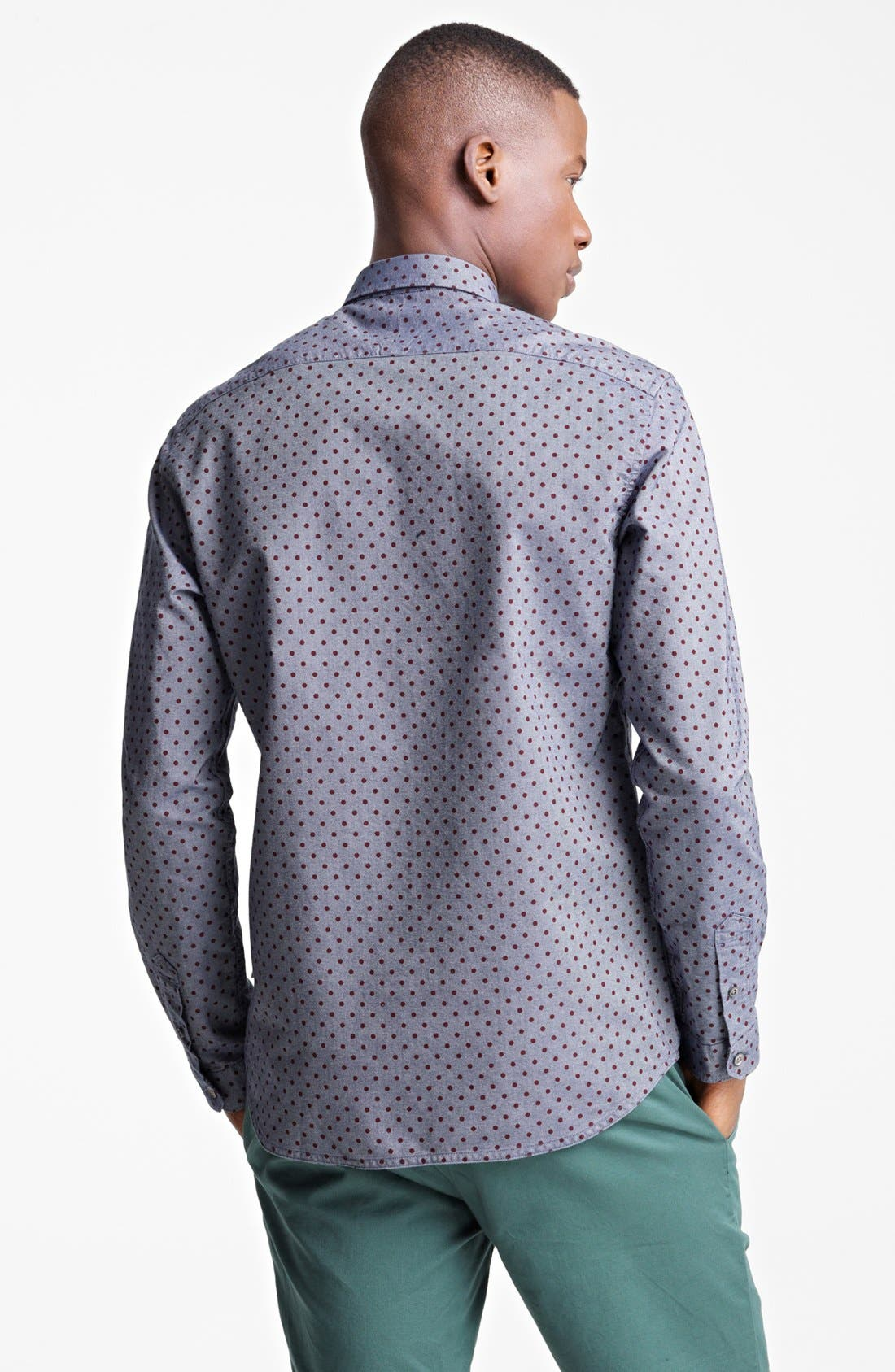 Alternate Image 2  - Paul Smith Jeans Tailored Fit Dot Print Sport Shirt