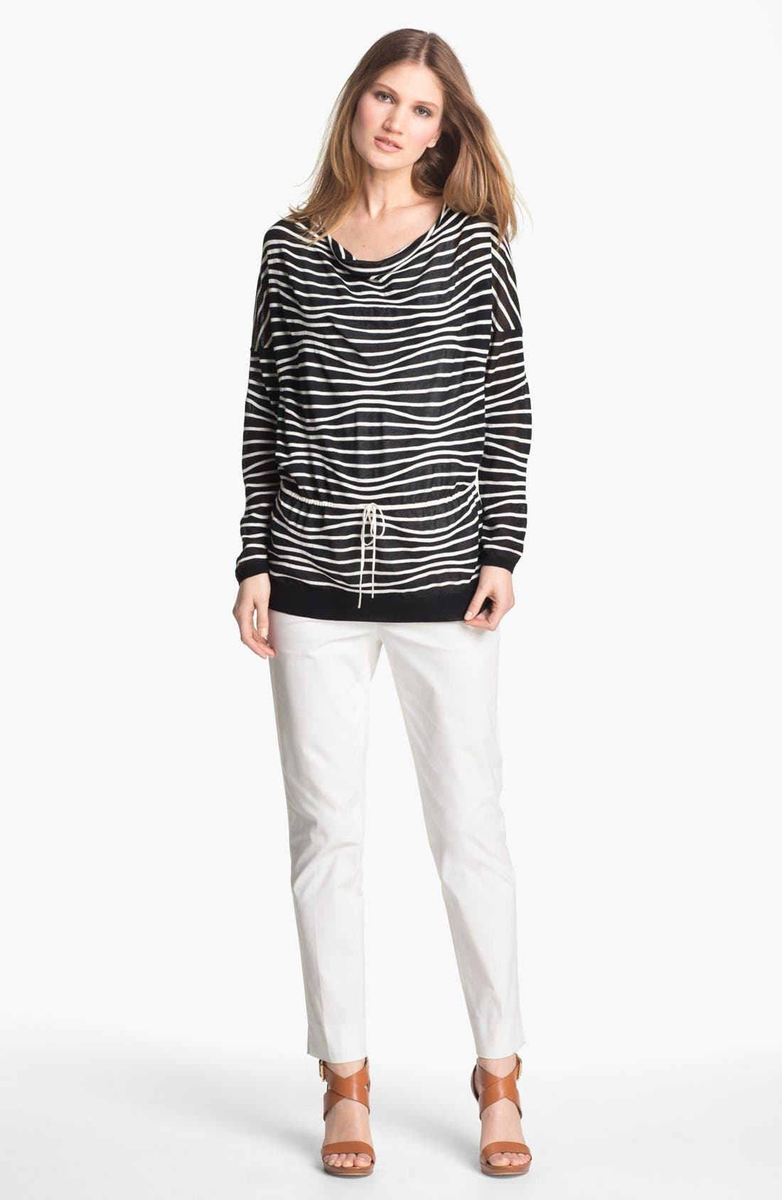 Alternate Image 4  - Lafayette 148 New York Drawstring Waist Sweater