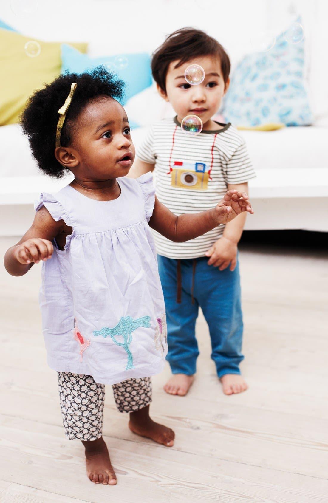 Alternate Image 2  - Mini Boden 'Summer' Embroidered Top & Leggings (Baby)