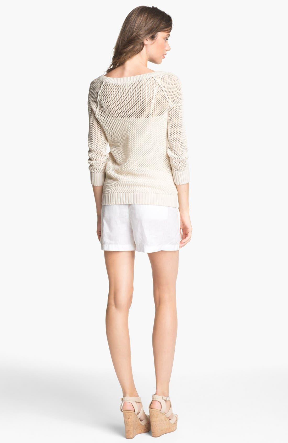 Alternate Image 5  - Caslon® Open Knit Sweater (Regular & Petite)