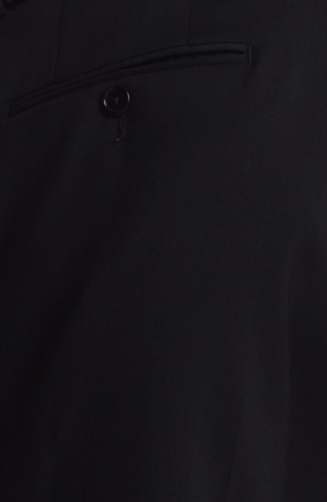 Alternate Image 3  - John Varvatos Star USA 'Thompson' Black Flat Front Wool Trousers