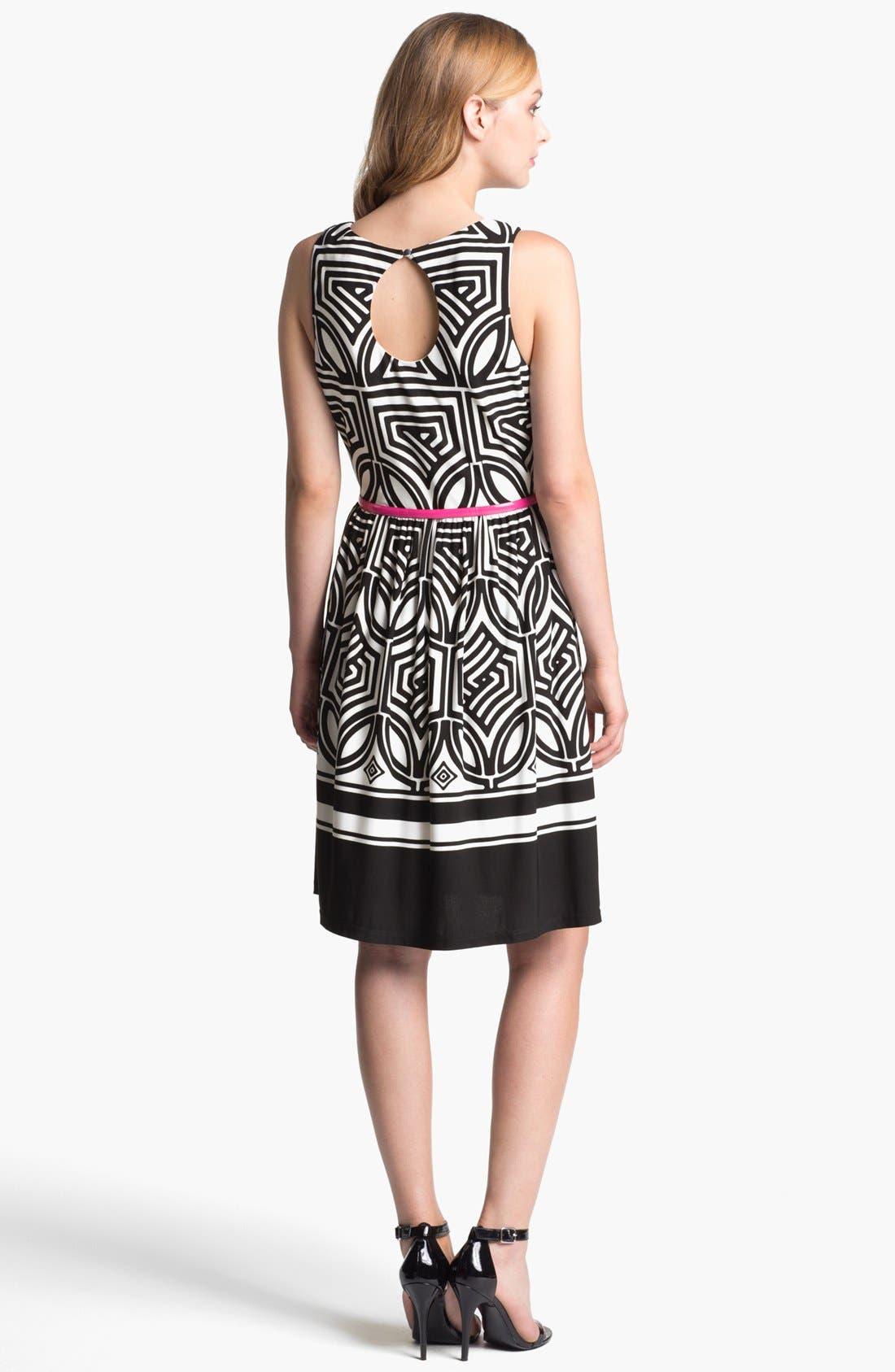 Alternate Image 2  - Eliza J Stretch Fit & Flare Dress
