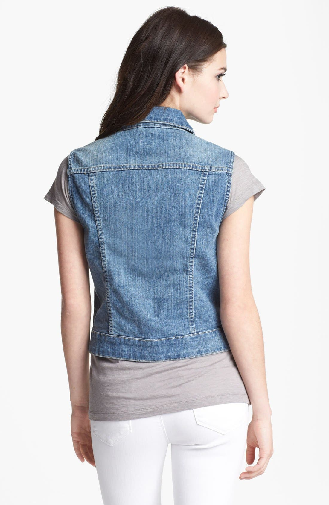 Alternate Image 2  - Jag Jeans 'Camden' Denim Vest (Petite)