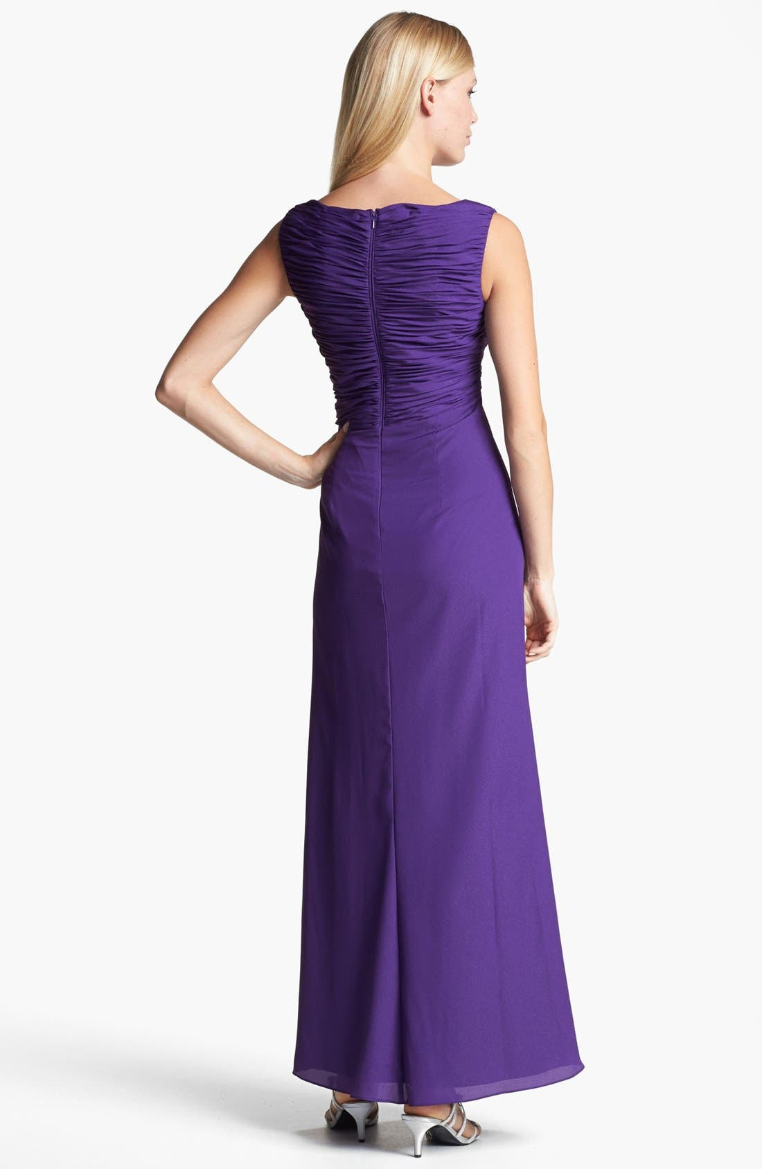 Alternate Image 2  - Patra Embellished Ruched Crepe Gown