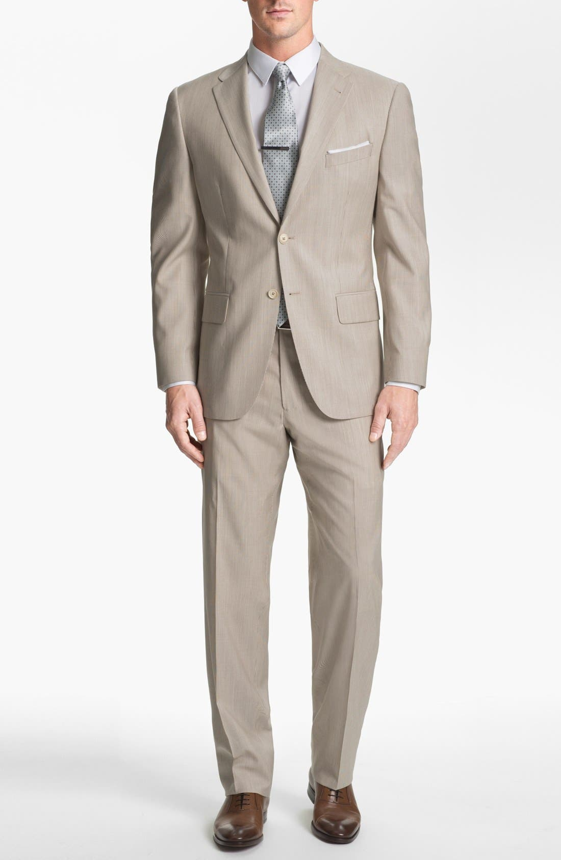 Alternate Image 1 Selected - Joseph Abboud Trim Fit Stripe Wool Suit