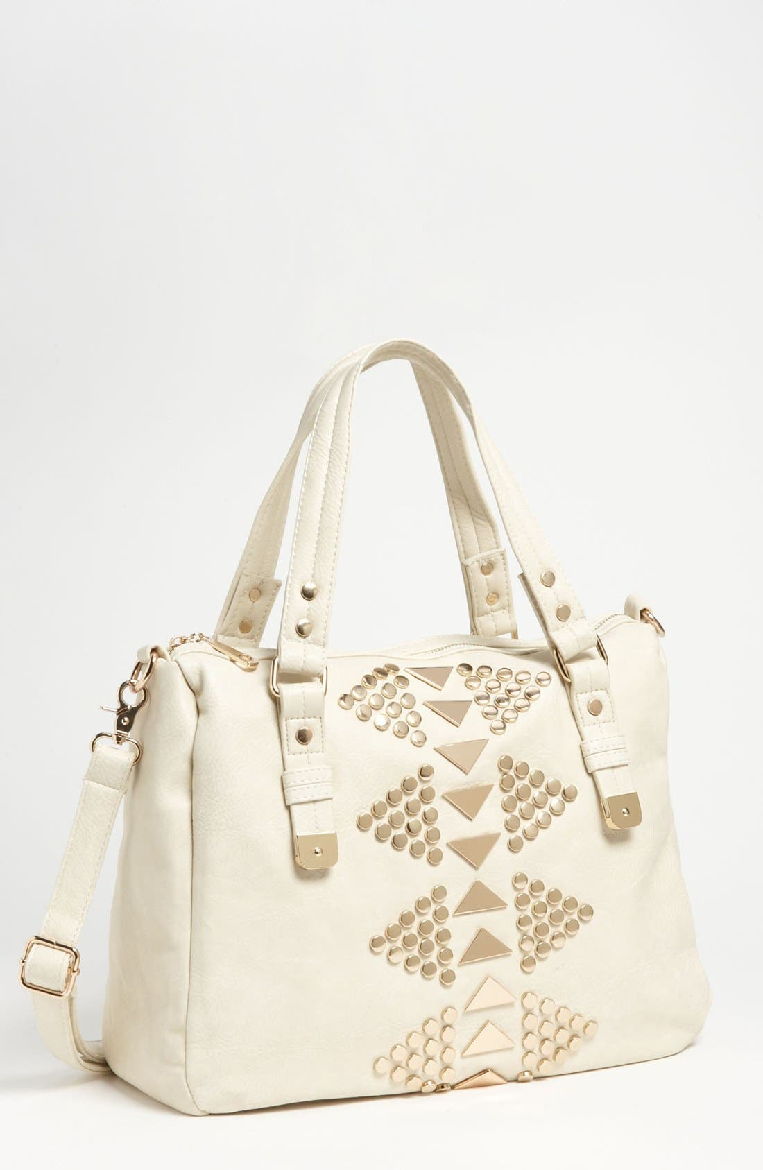 Main Image - Street Level 'Oversized' Studded Faux Leather Tote