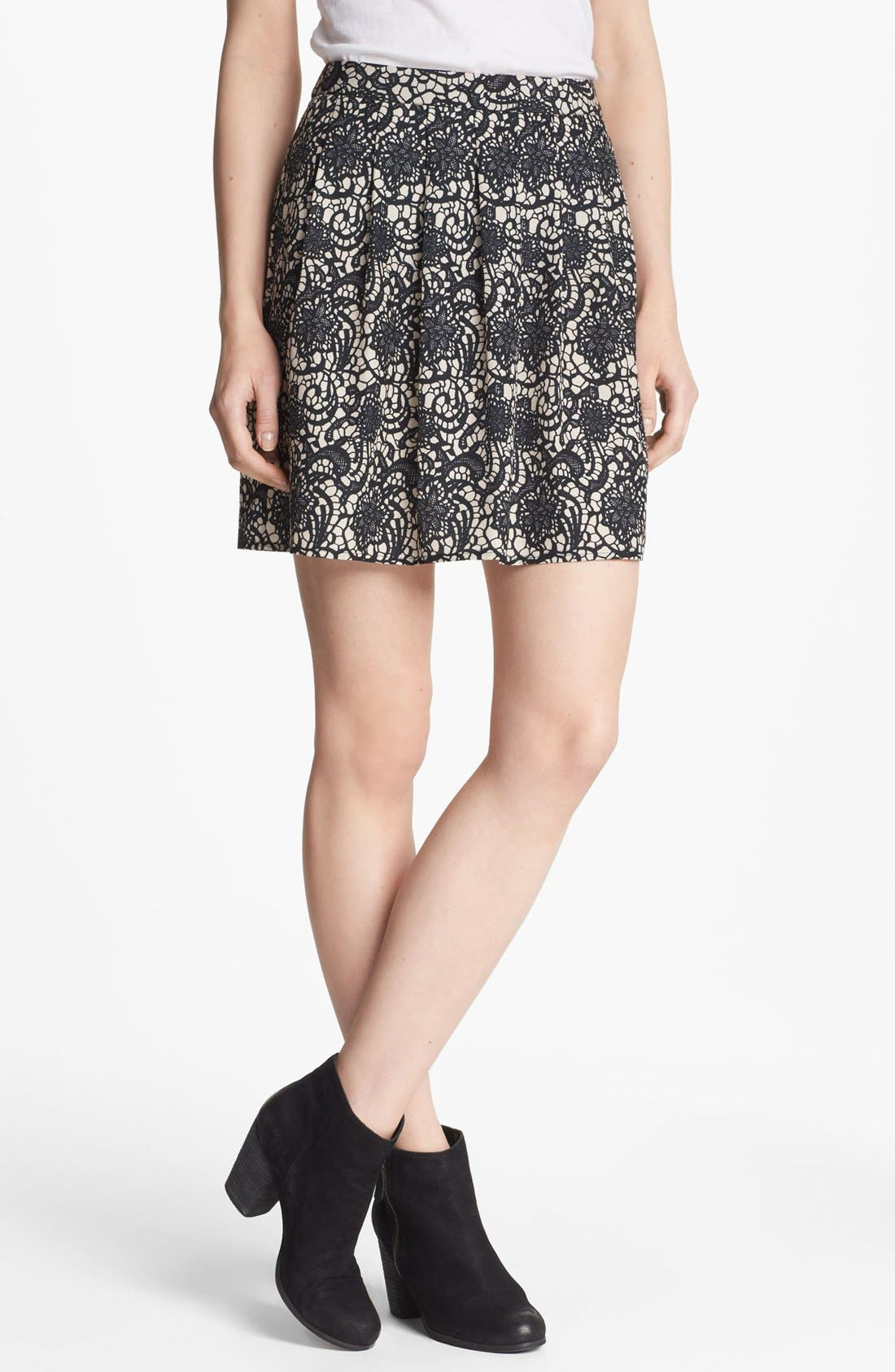 Alternate Image 1 Selected - Hinge® Print Pleated Skirt