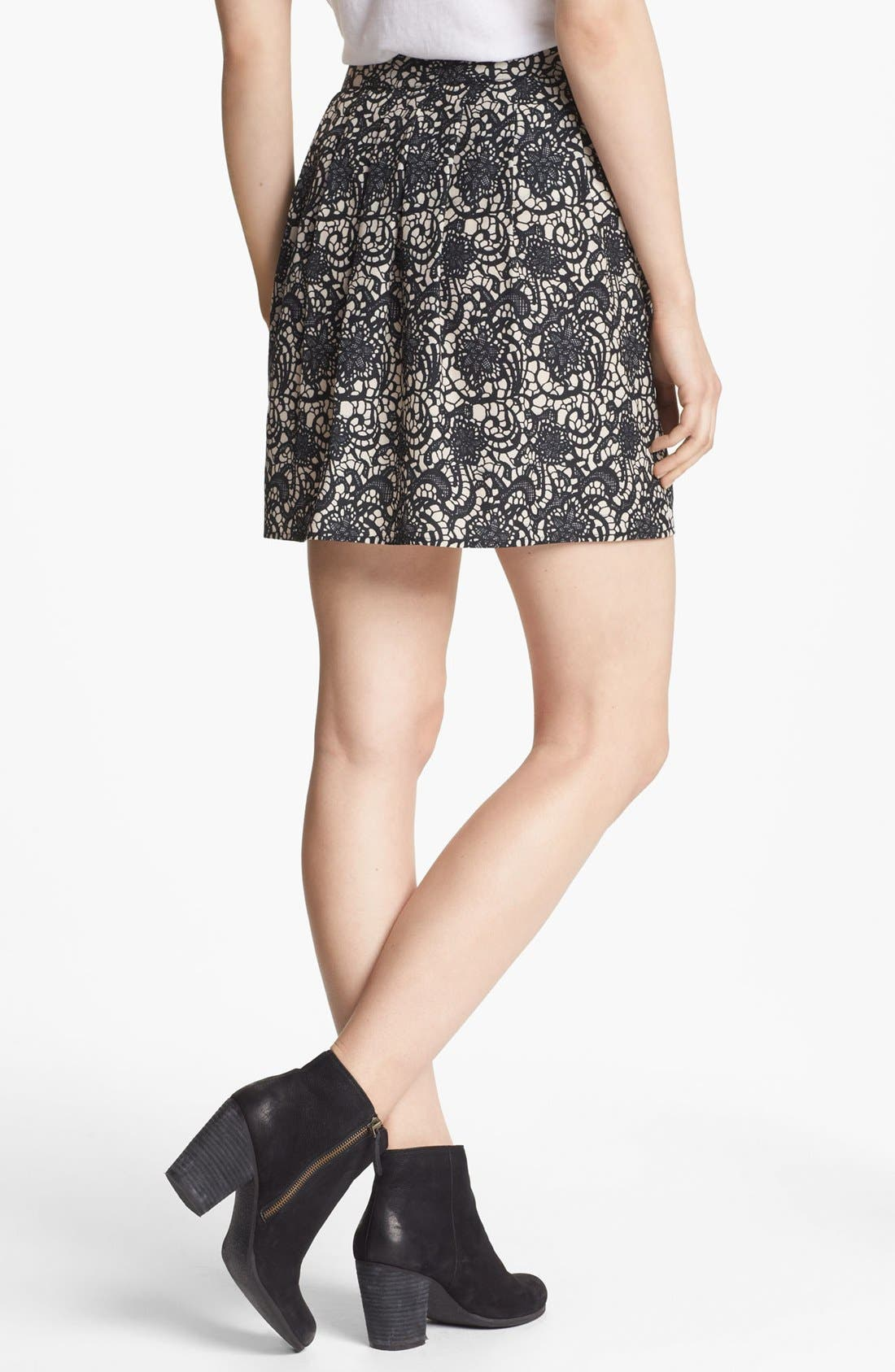 Alternate Image 2  - Hinge® Print Pleated Skirt