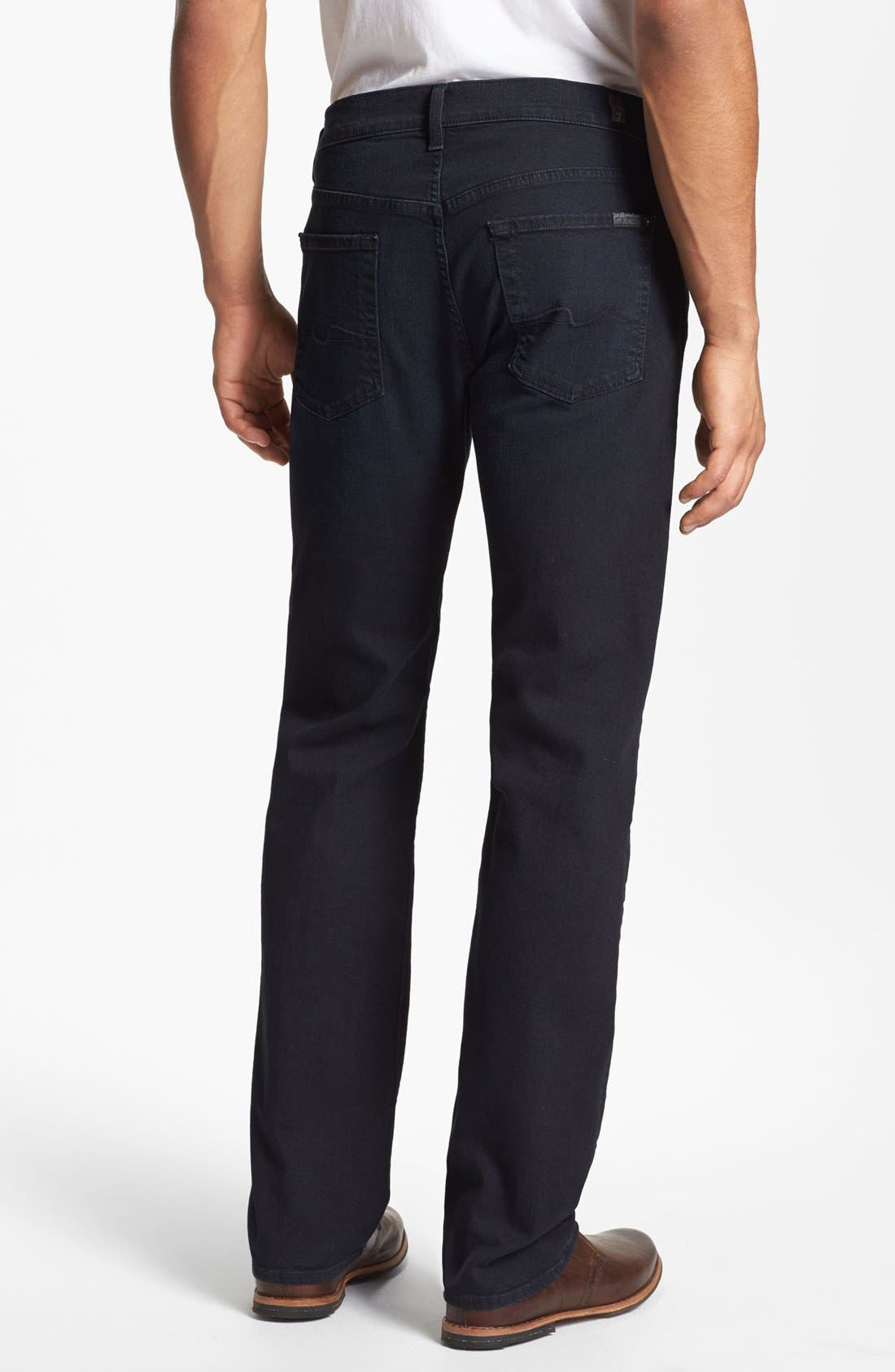 Main Image - 7 For All Mankind® 'Standard' Straight Leg Jeans (Castaic Lake)