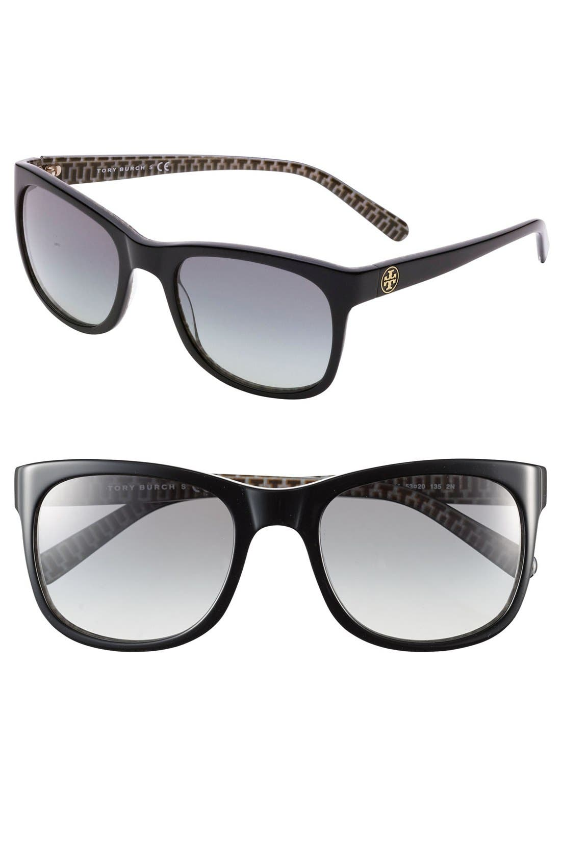 Alternate Image 1 Selected - Tory Burch 53mm Glam Logo Sunglasses