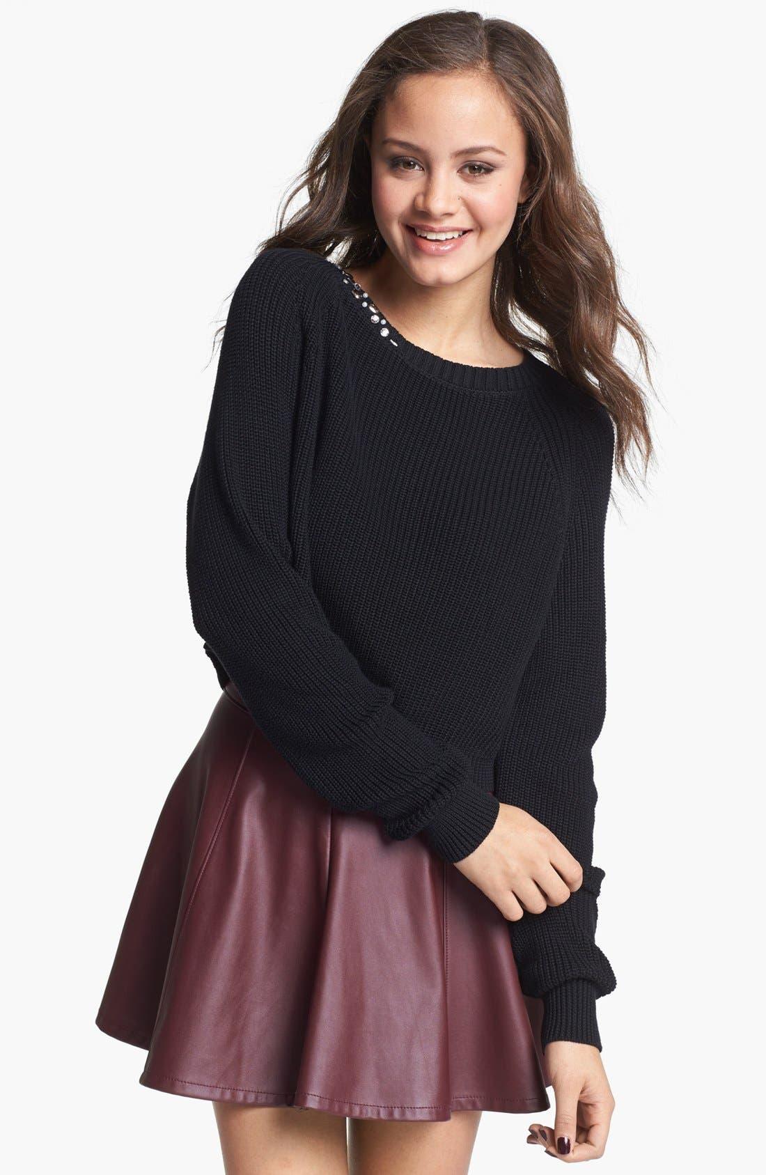 Alternate Image 1 Selected - Rubbish® Crop Pullover (Juniors)