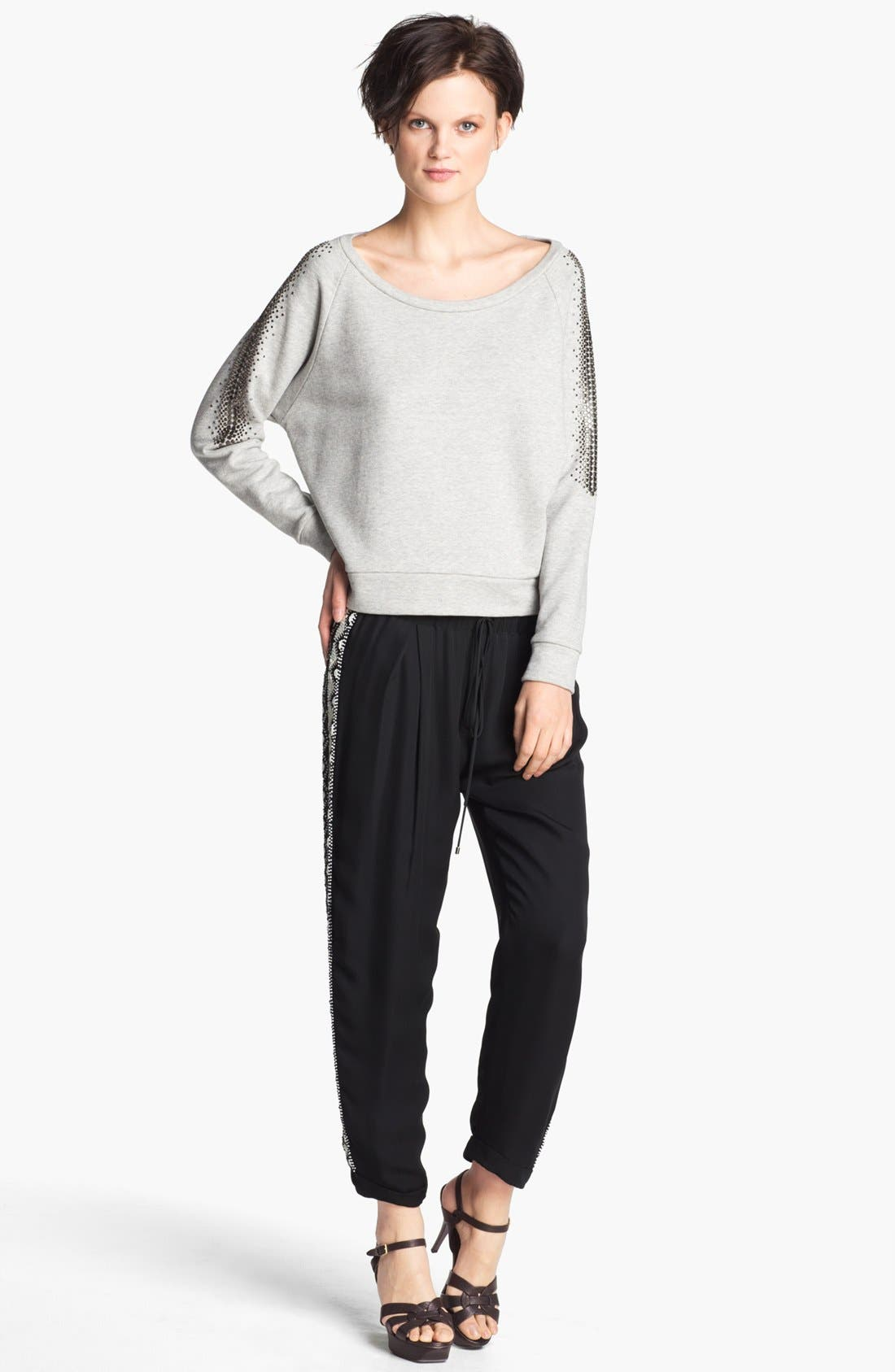 Alternate Image 2  - Haute Hippie Studded French Terry Sweatshirt