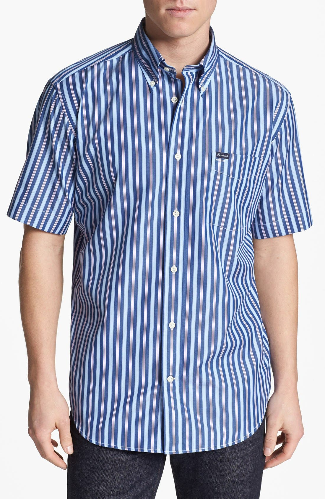 Alternate Image 1 Selected - Façonnable Classique Fit Short Sleeve Sport Shirt