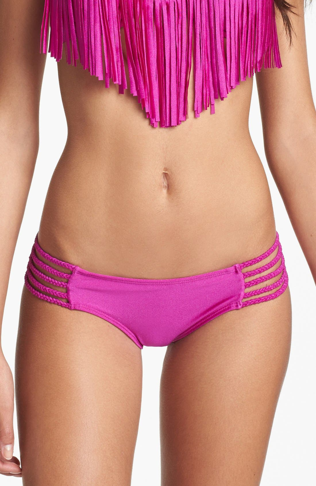 Alternate Image 1 Selected - Luli Fama Braided Side Bikini Bottoms