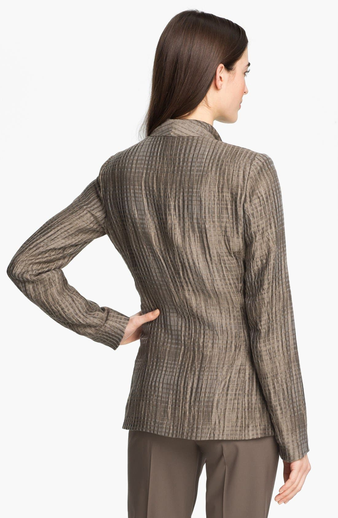 Alternate Image 2  - Lafayette 148 New York 'Beau - Thatched Linen' Jacket (Petite)