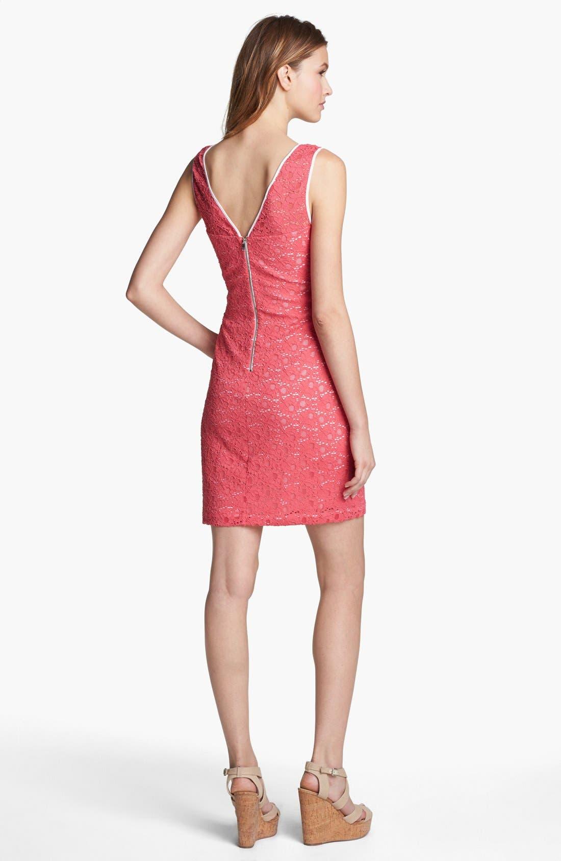 Alternate Image 2  - Marc New York by Andrew Marc Sleeveless Lace Sheath Dress