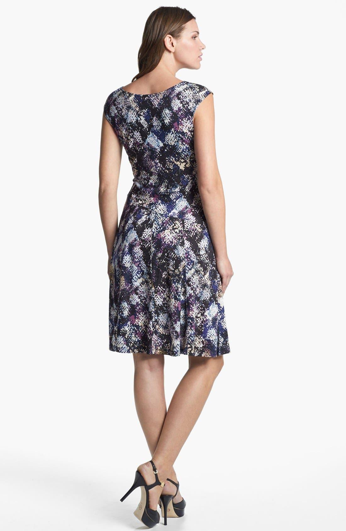 Alternate Image 2  - NIC+ZOE Cap Sleeve Faux Wrap Print Dress