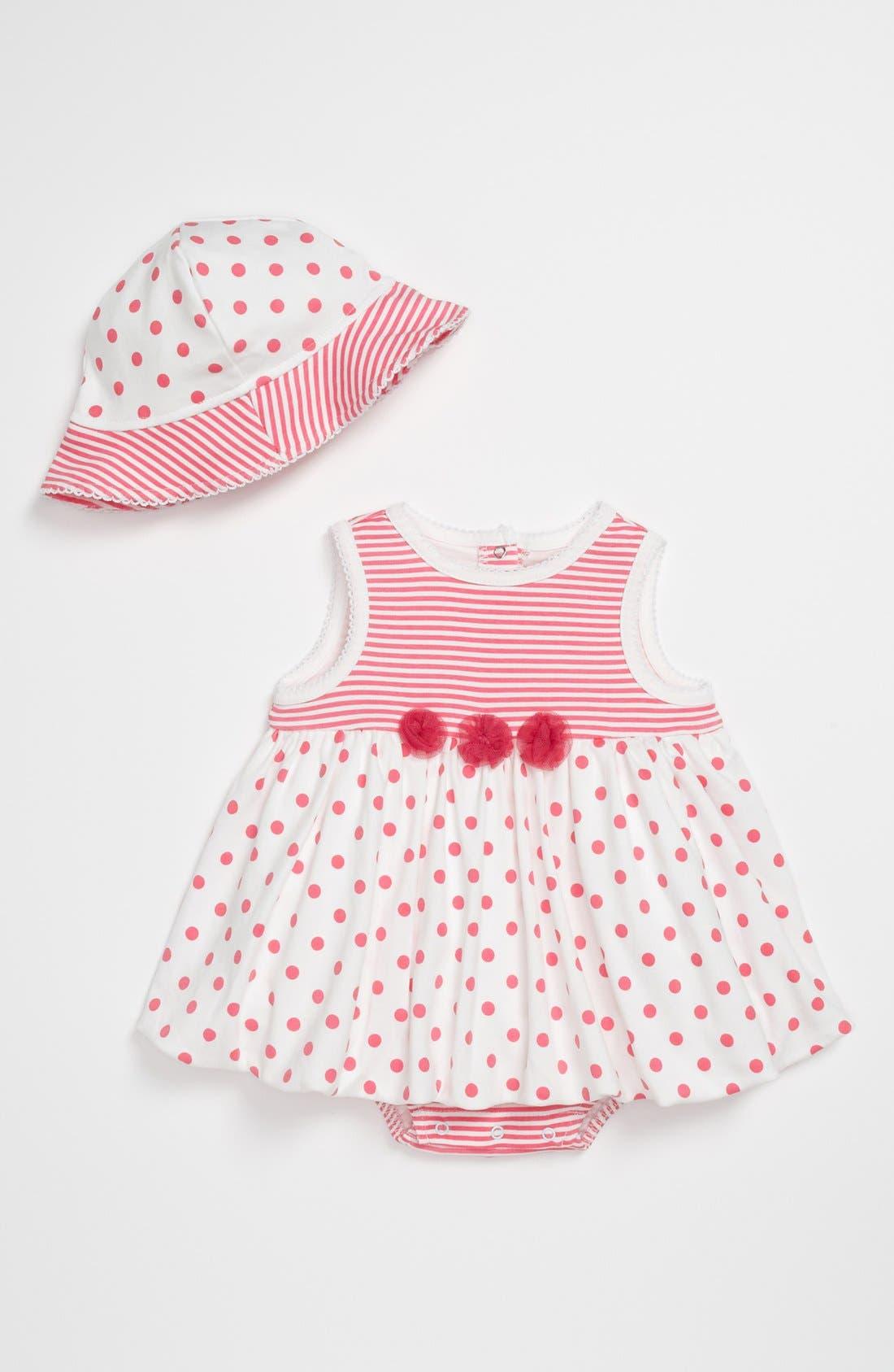 Alternate Image 1 Selected - Little Me Bodysuit & Hat (Baby)