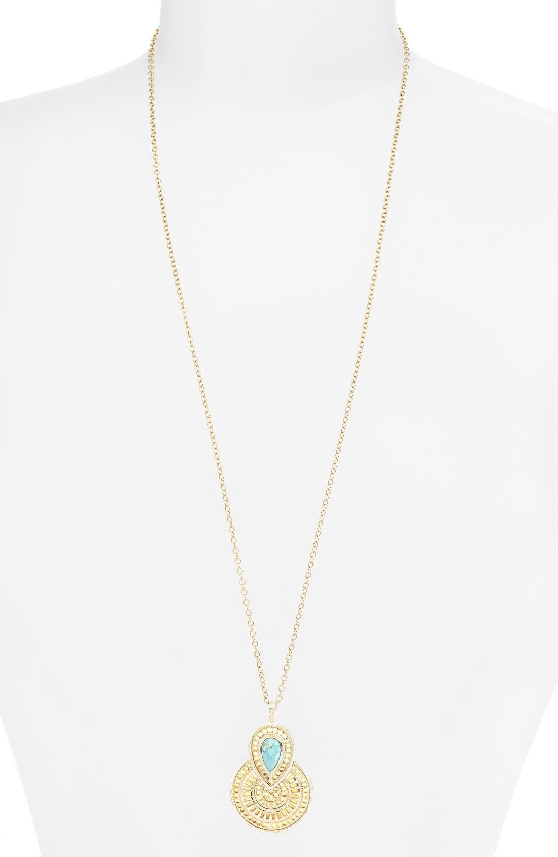 Alternate Image 1 Selected - Anna Beck 'Gili' Long Pendant Necklace