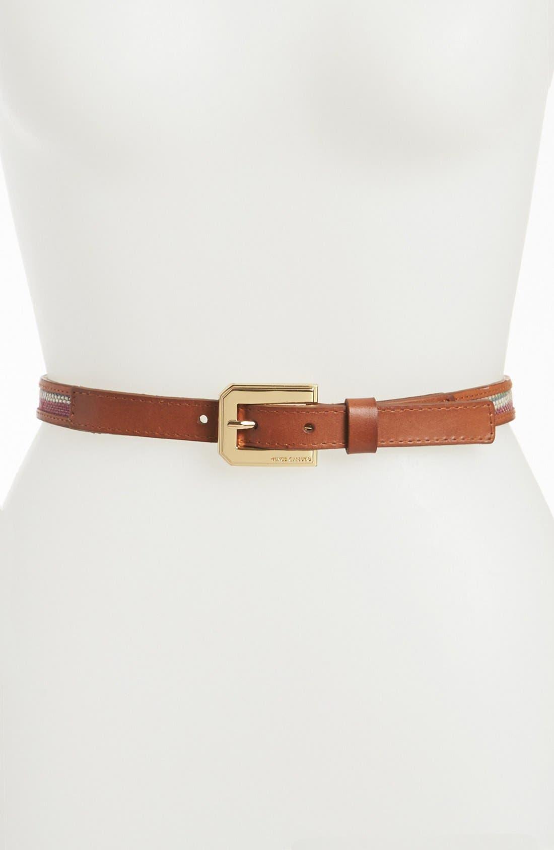 Main Image - Vince Camuto Stripe Raffia Belt