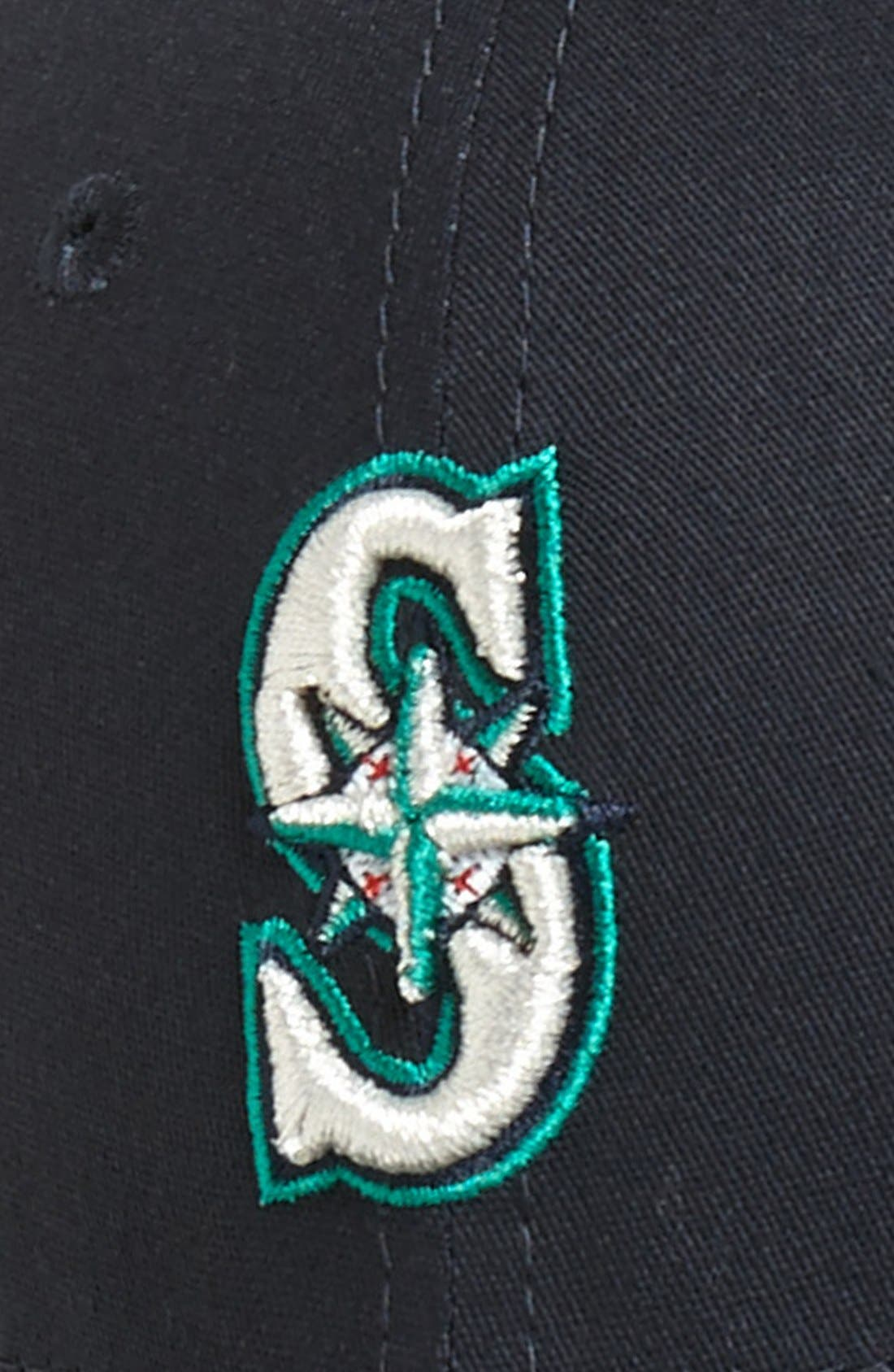 Alternate Image 2  - New Era Cap 'Seattle Mariners - Tie Breaker' Baseball Cap (Big Boys)