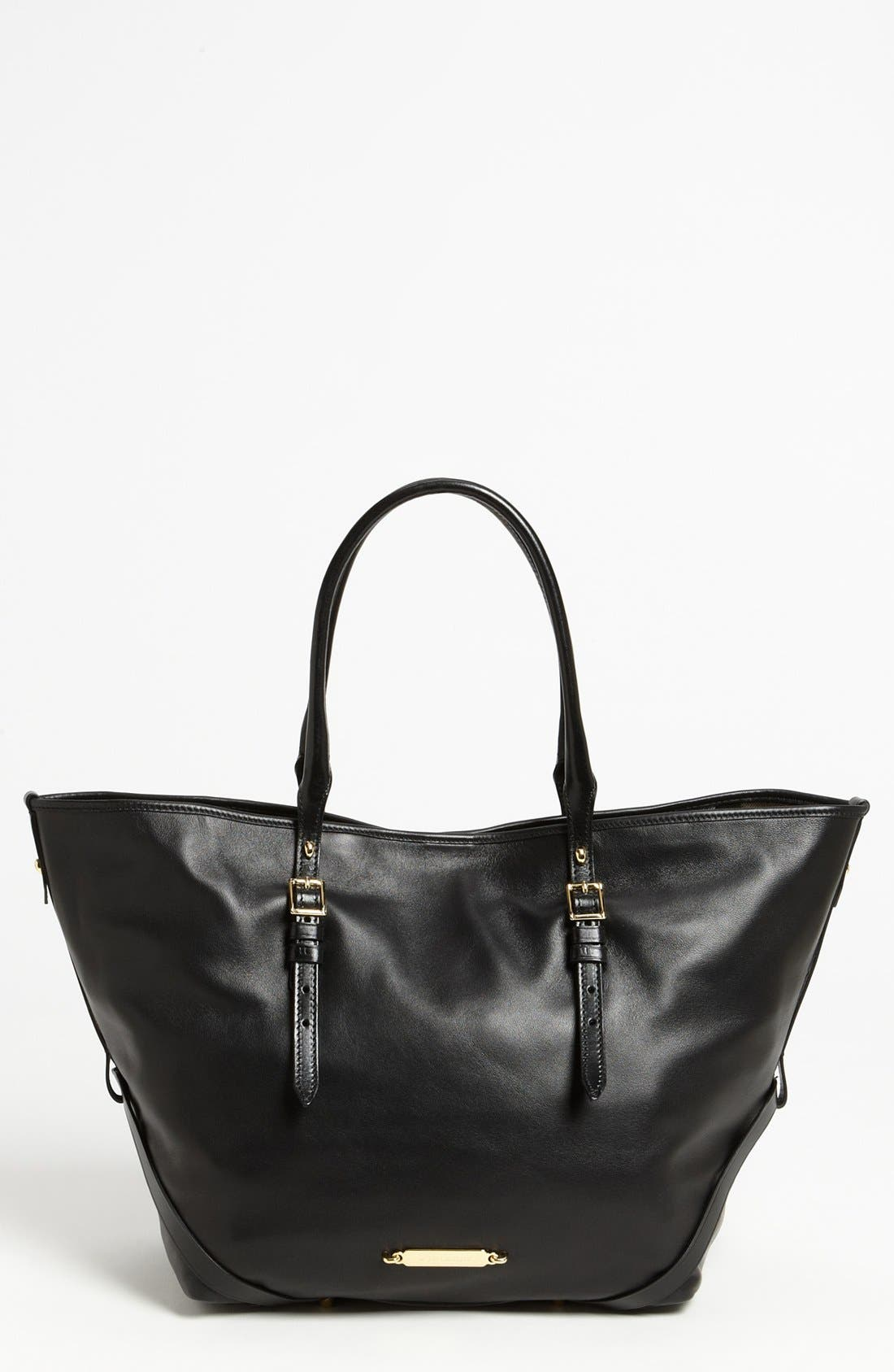 Alternate Image 1 Selected - Burberry 'Medium Bridle' Leather Tote