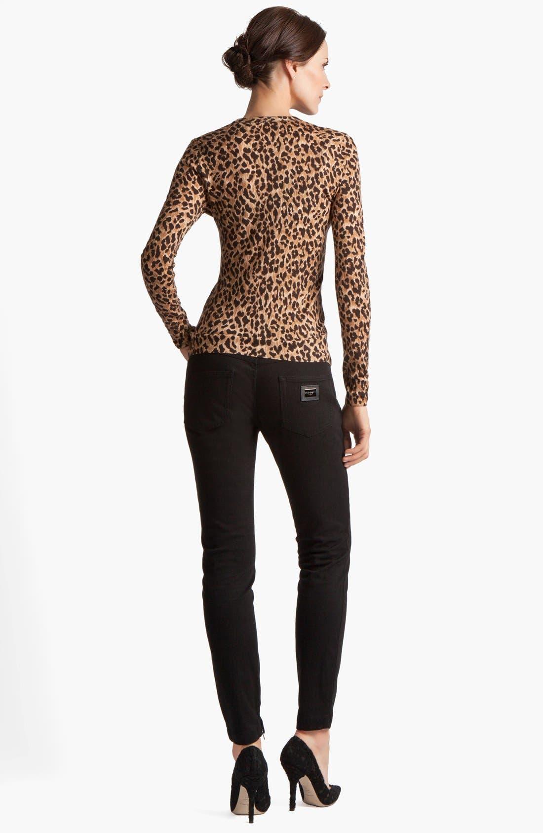 Alternate Image 4  - Dolce&Gabbana Extra Fine Wool Cardigan