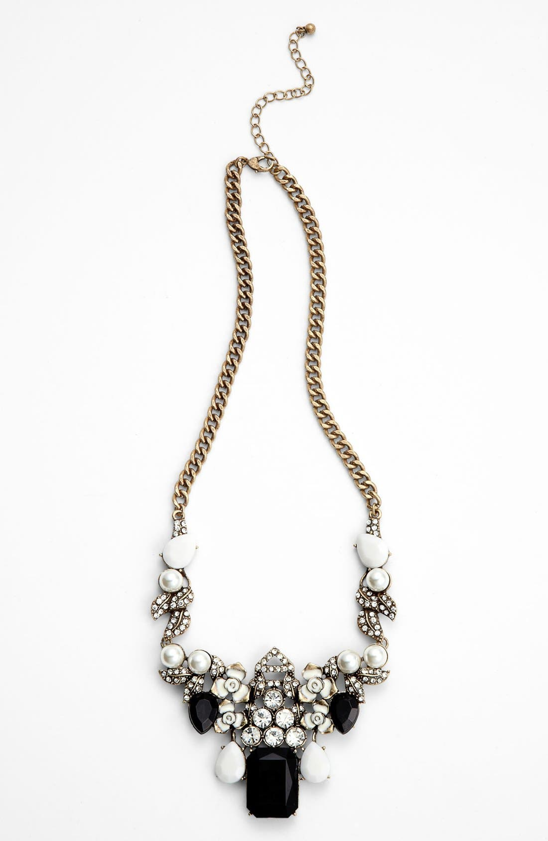 Main Image - Cara Couture 'Enamel Floral' Statement Necklace
