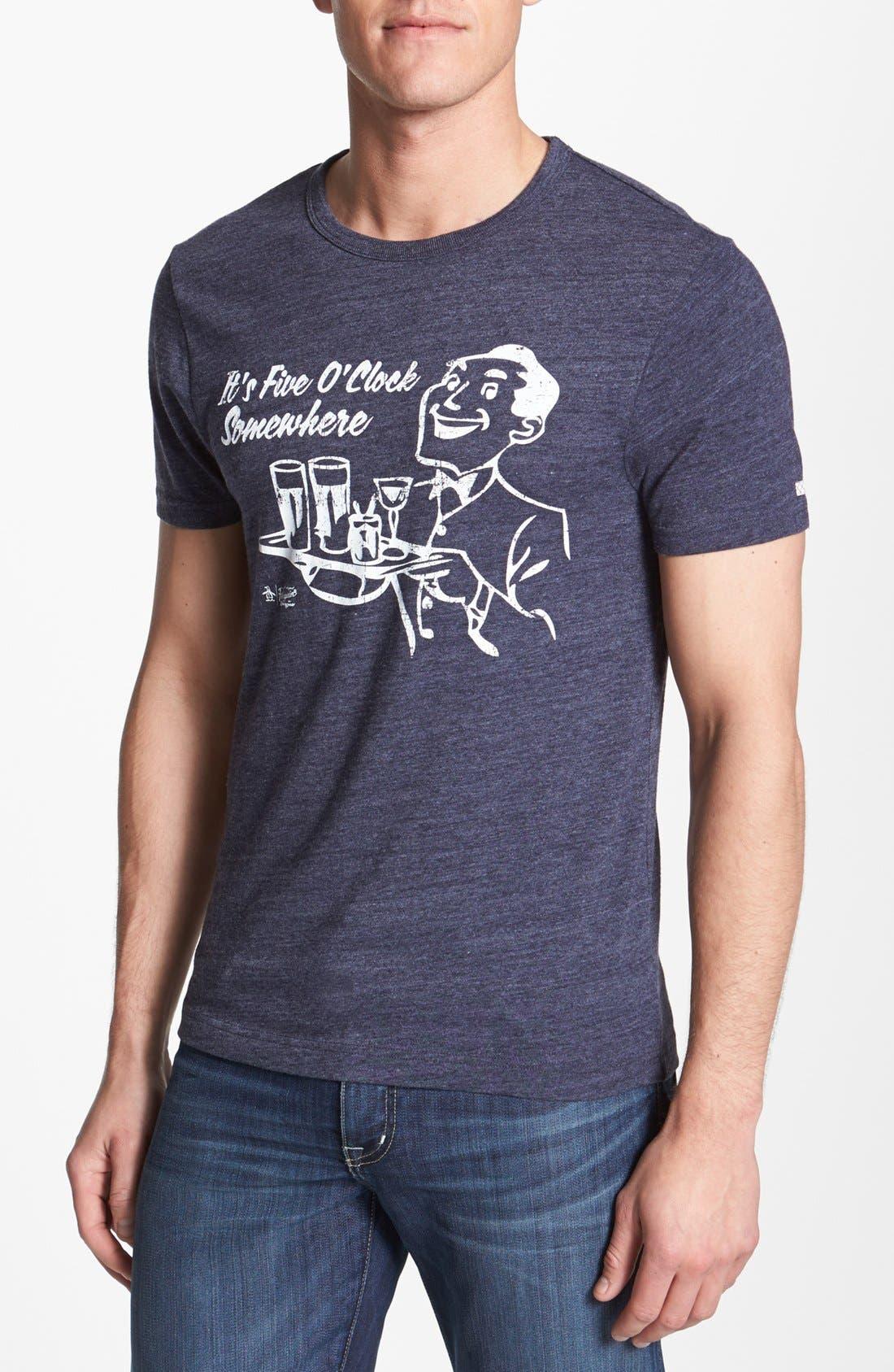 Main Image - Original Penguin 'Five O'Clock' Graphic T-Shirt