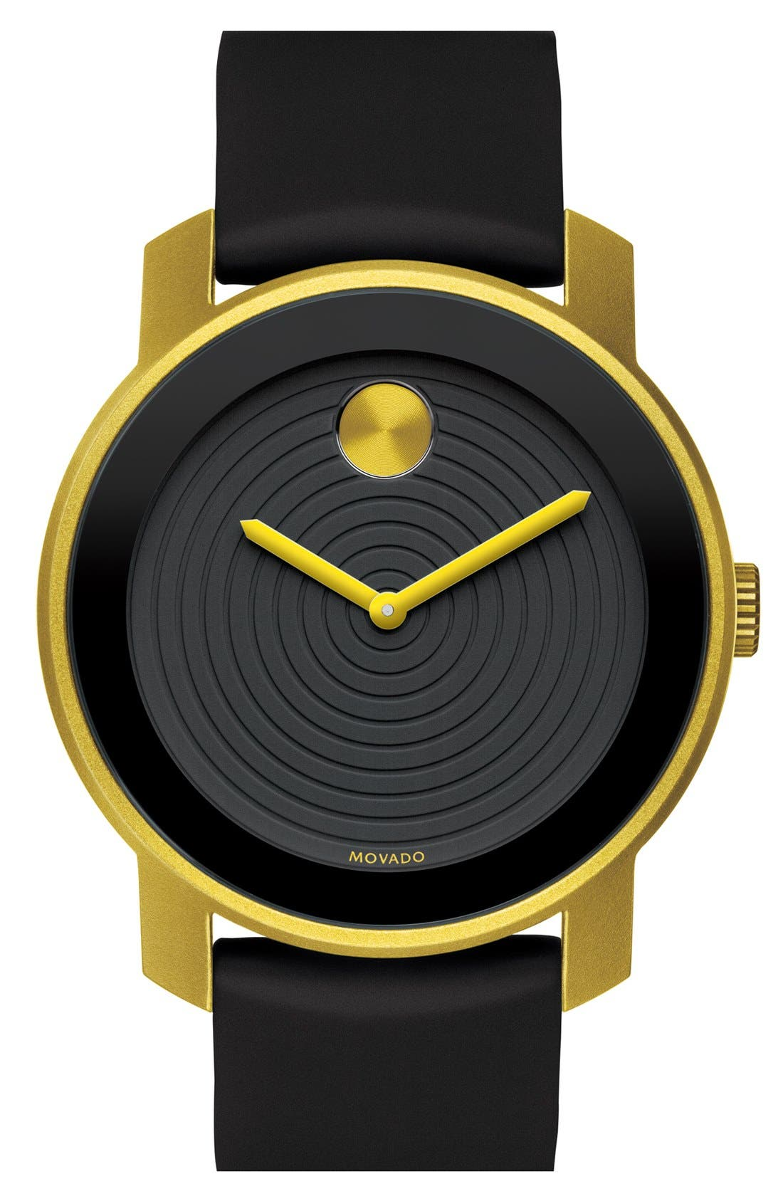Alternate Image 1 Selected - Movado 'Large Bold' Silicone Strap Watch, 44mm