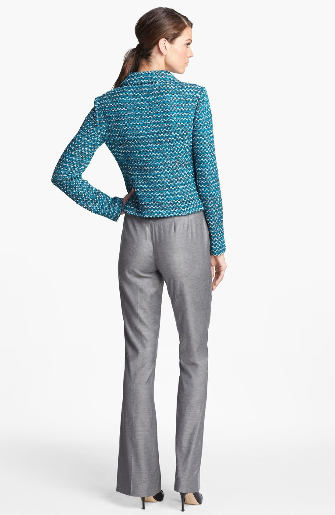 Alternate Image 3  - St. John Collection Notch Collar Tweed Knit Jacket